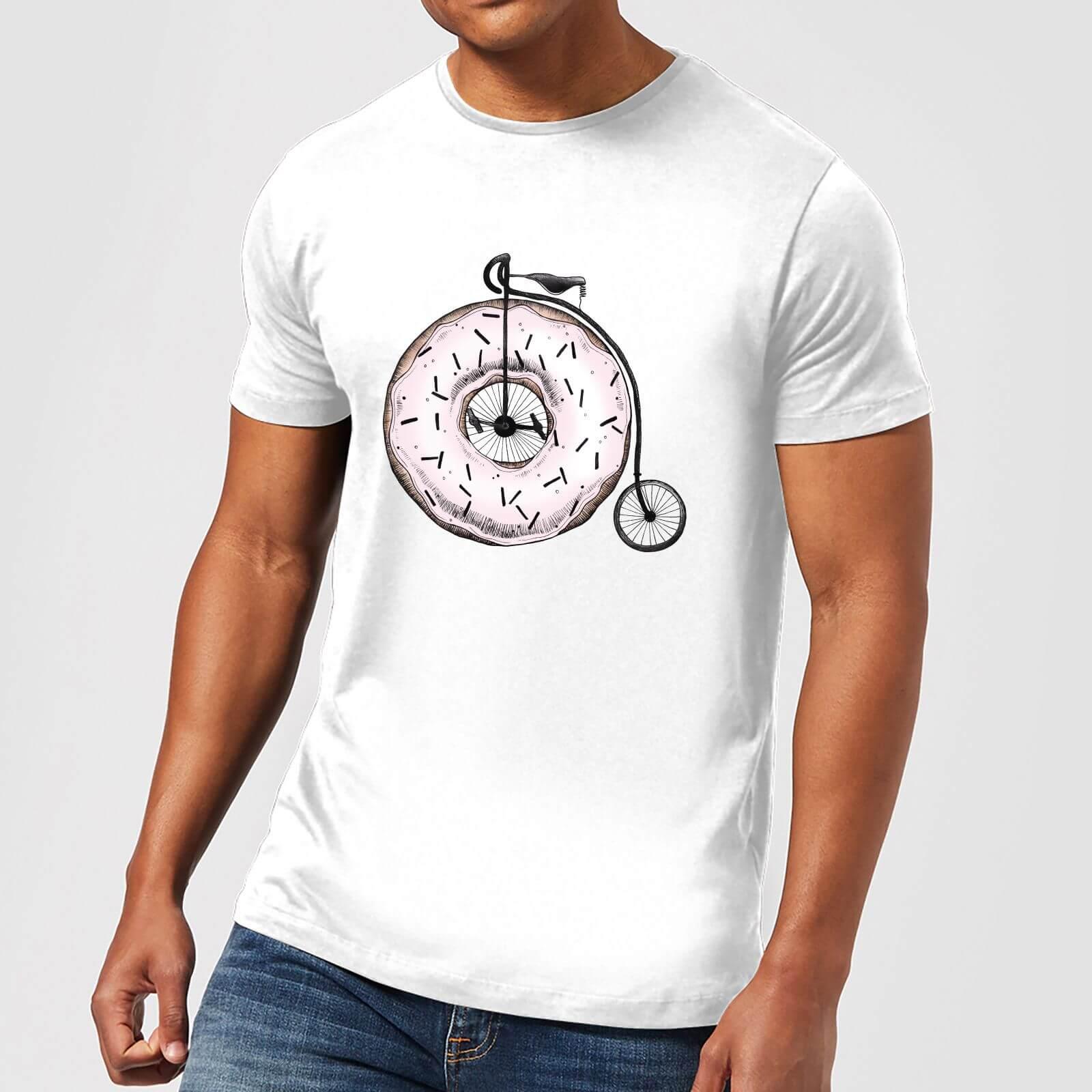 Barlena Donut Ride My Bicycle Mens T Shirt   White   XS   White