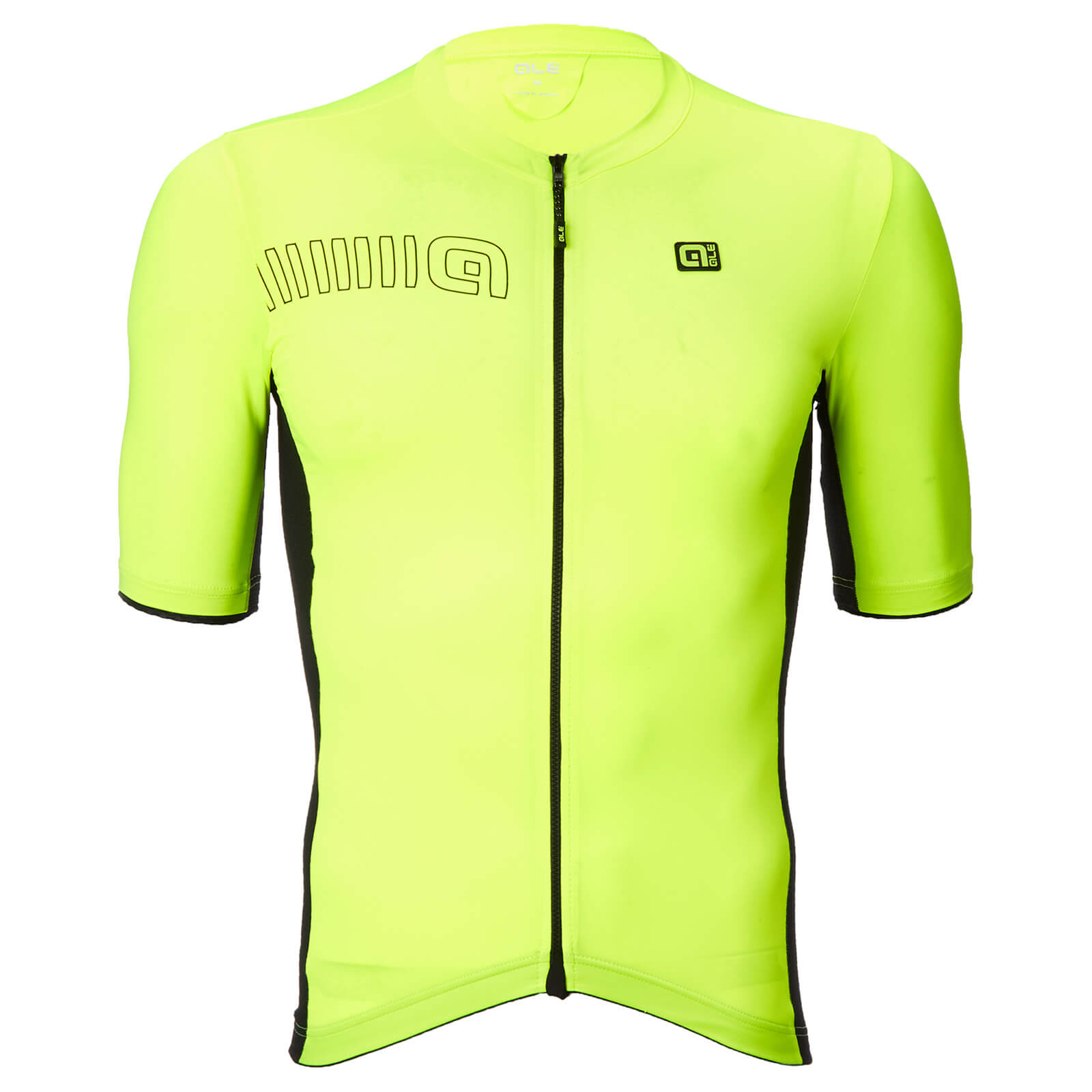 Alé Solid Block Jersey - S - Black/Fluo Yellow