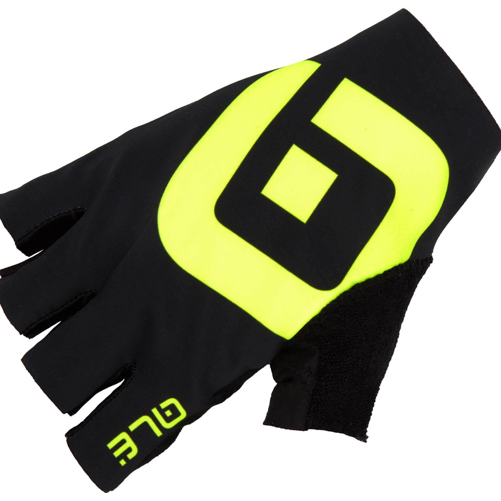 Alé Air Gloves - L - Black/Fluo Yellow
