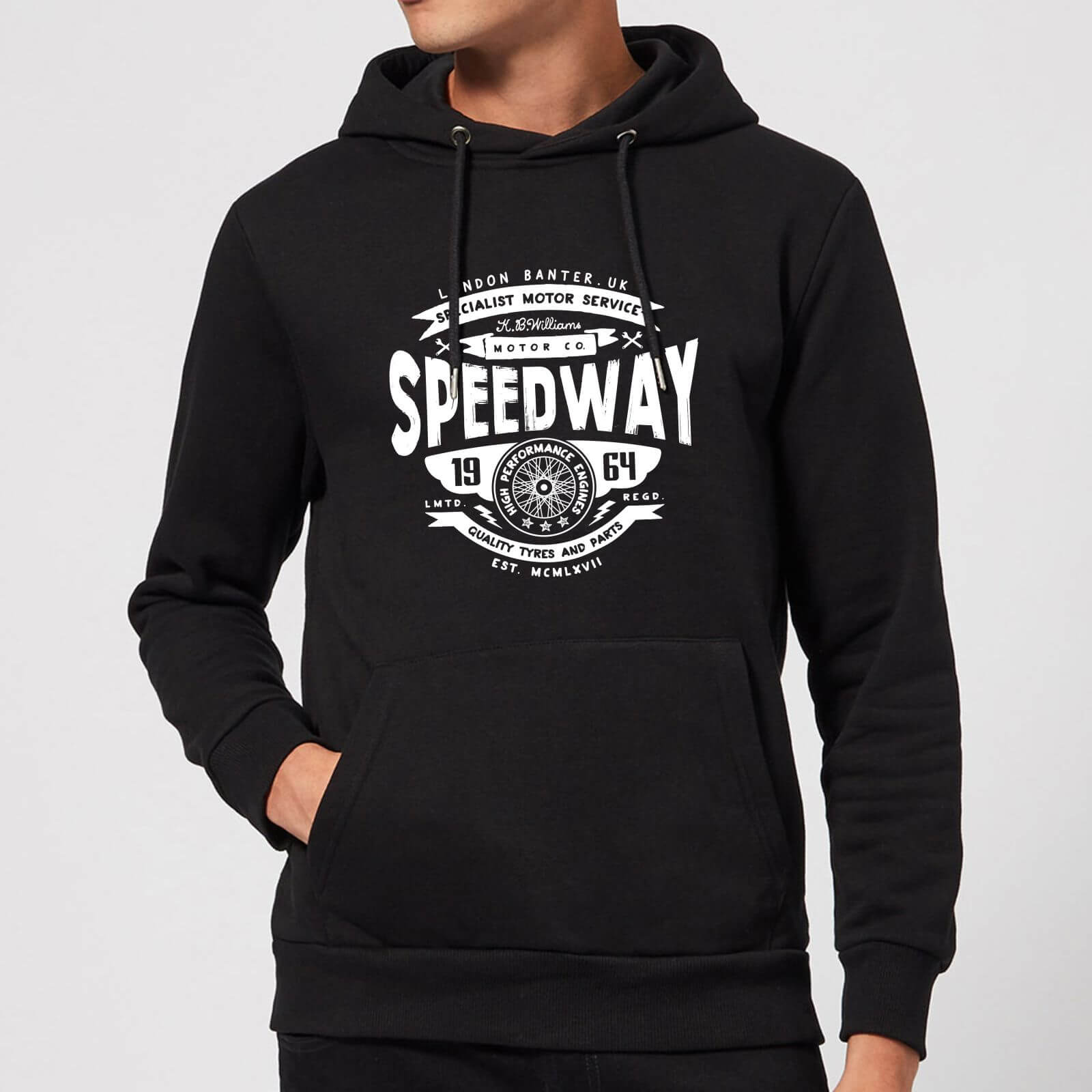 Speedway Hoodie - Black - XXL - Schwarz