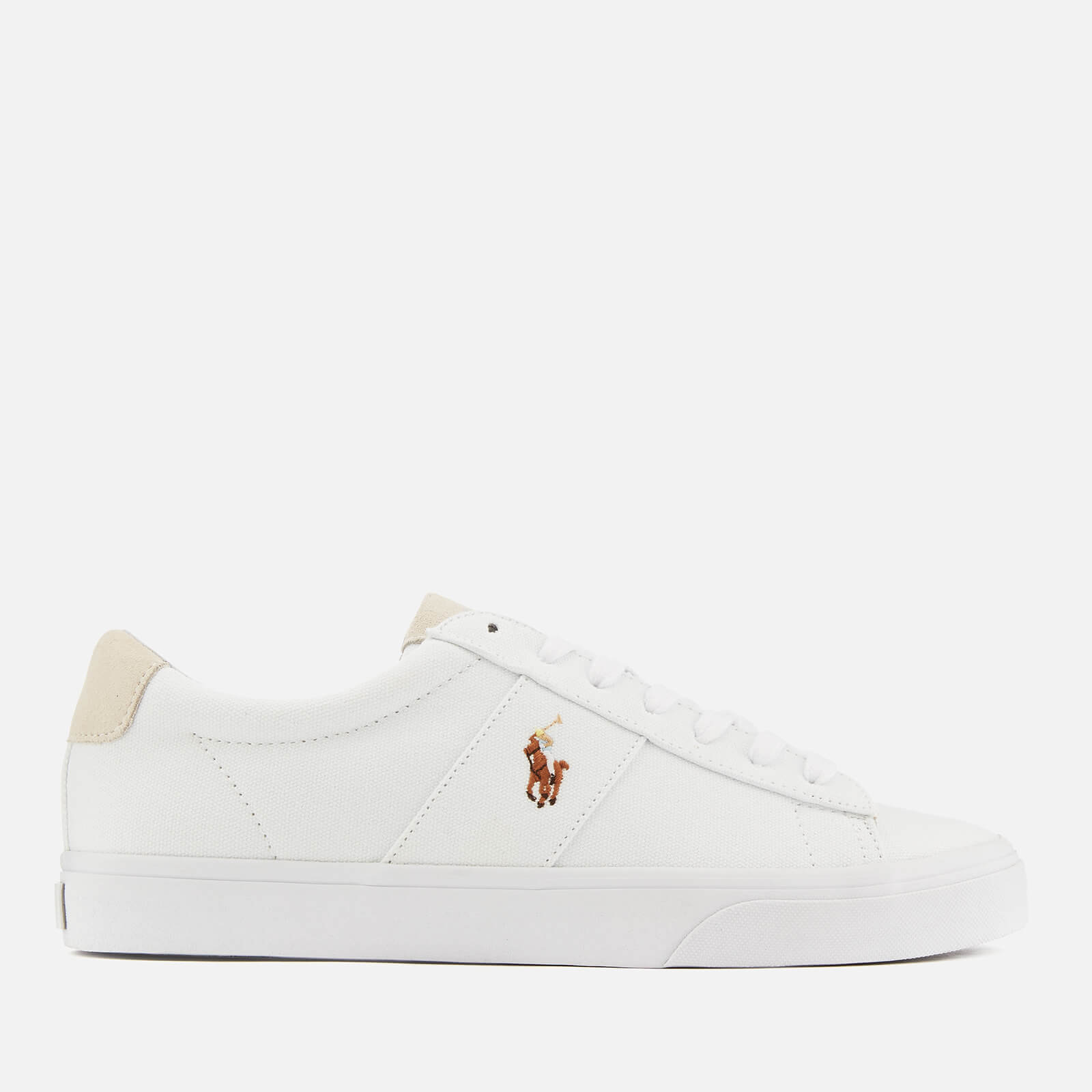 Polo Ralph Lauren Men's Sayer Canvas Low Top Trainers - White - UK 10 - White