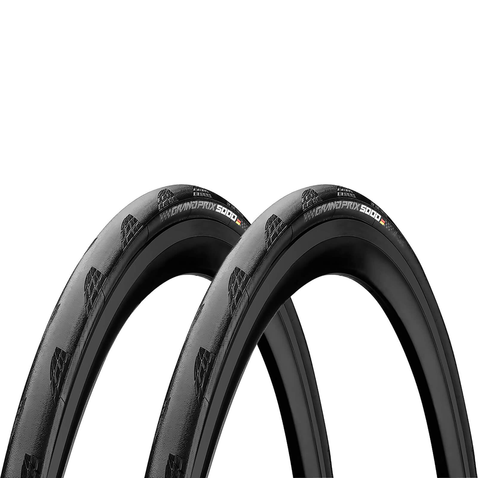 Image of Continental Grand Prix 5000 Clincher Road Tyre Twin Pack - Black - 700c x 23mm