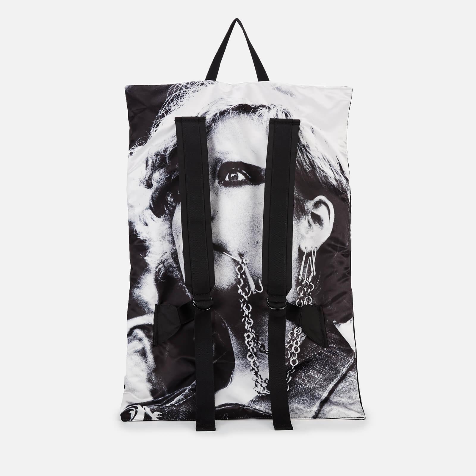 Eastpak X Raf Simons Men's Poster Backpack - Black Cotton