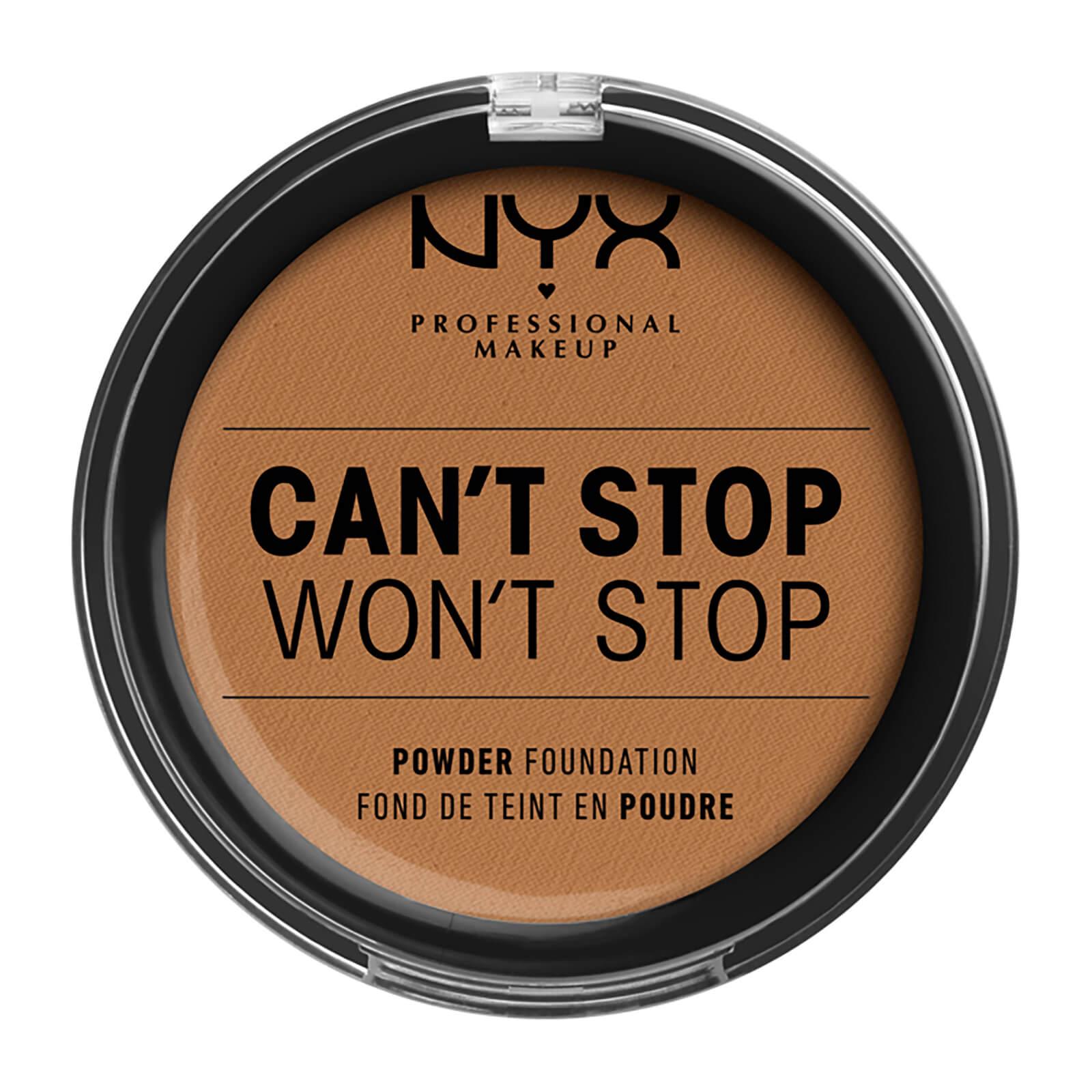 nyx professional makeup can't stop won't stop powder foundation (various shades) - warm honey