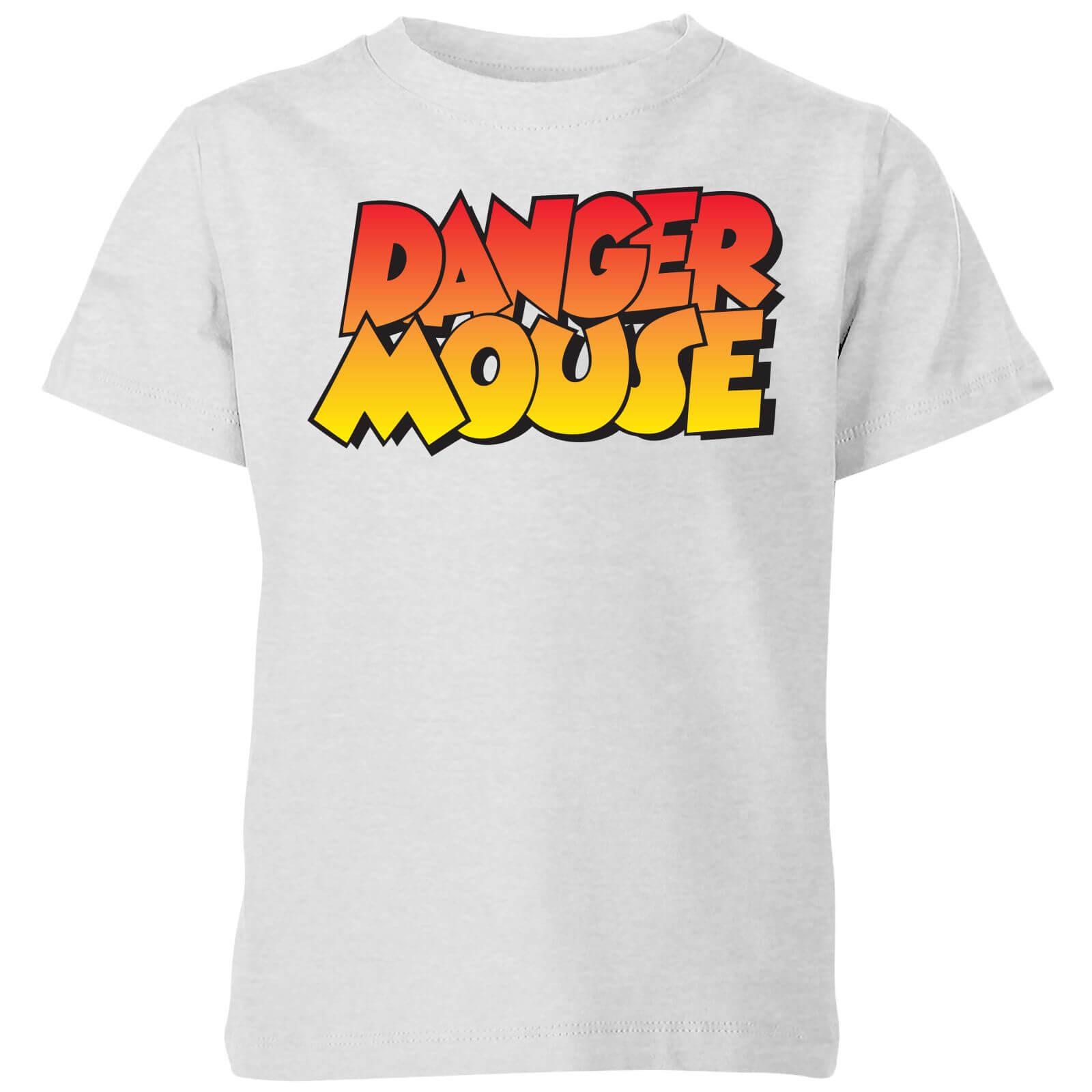Image of Danger Mouse Colour Logo Kids' T-Shirt - Grey - 7-8 Anni - Grigio
