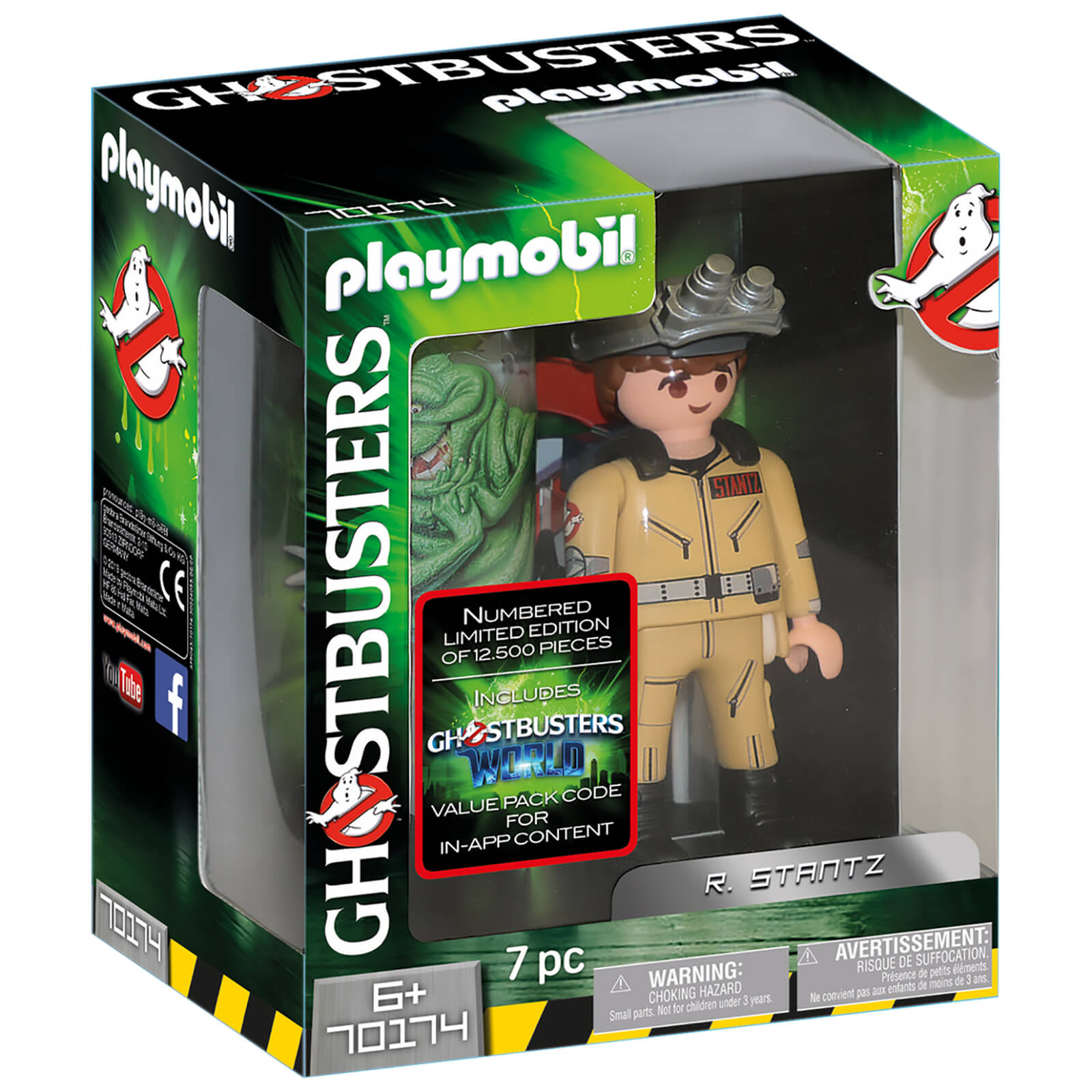 Playmobil Ghostbusters Collectors Edition R. Stantz   Limited And Individually Numbered (70174)
