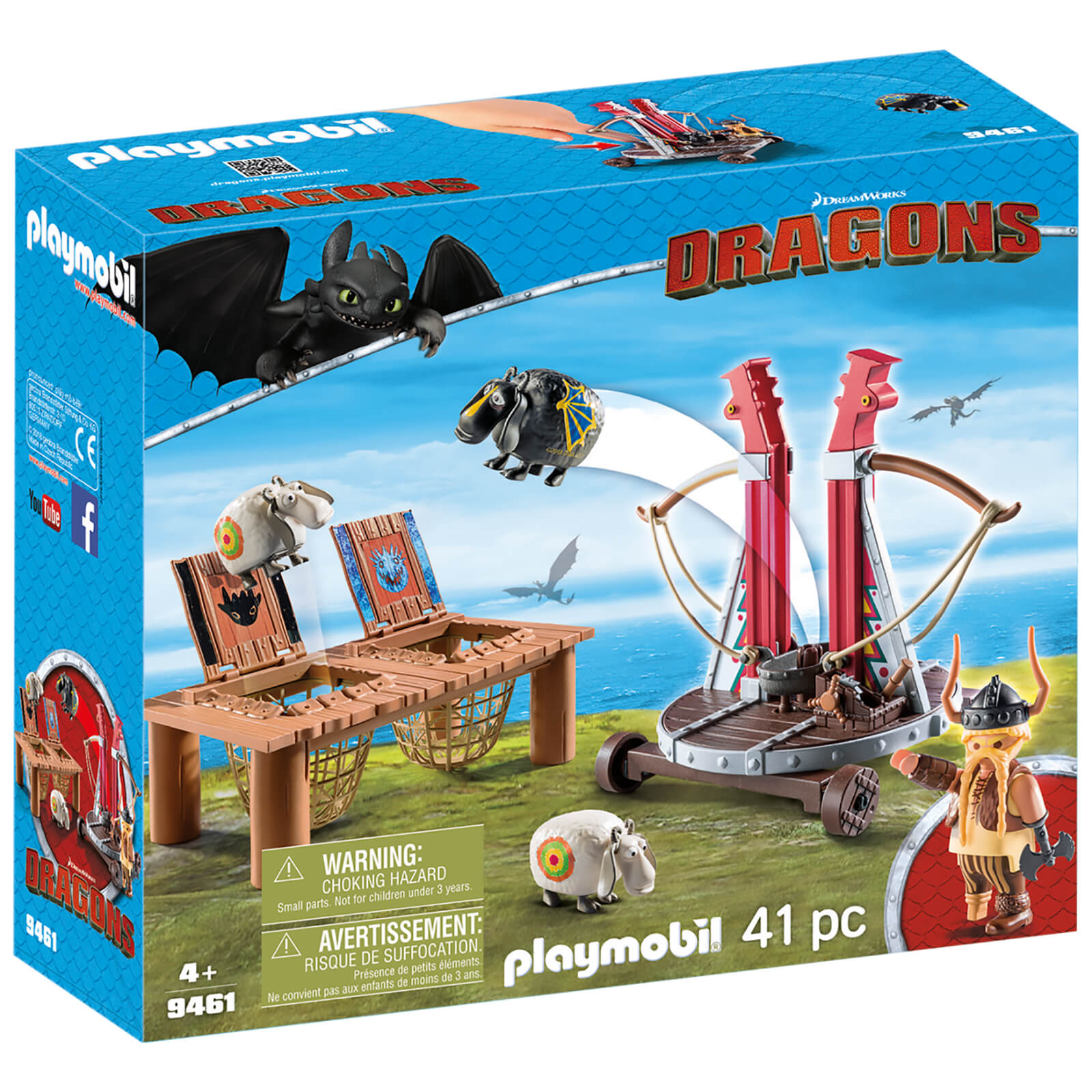 Playmobil DreamWorks Dragons Gobber The Belch With Sheep Sling (9461)