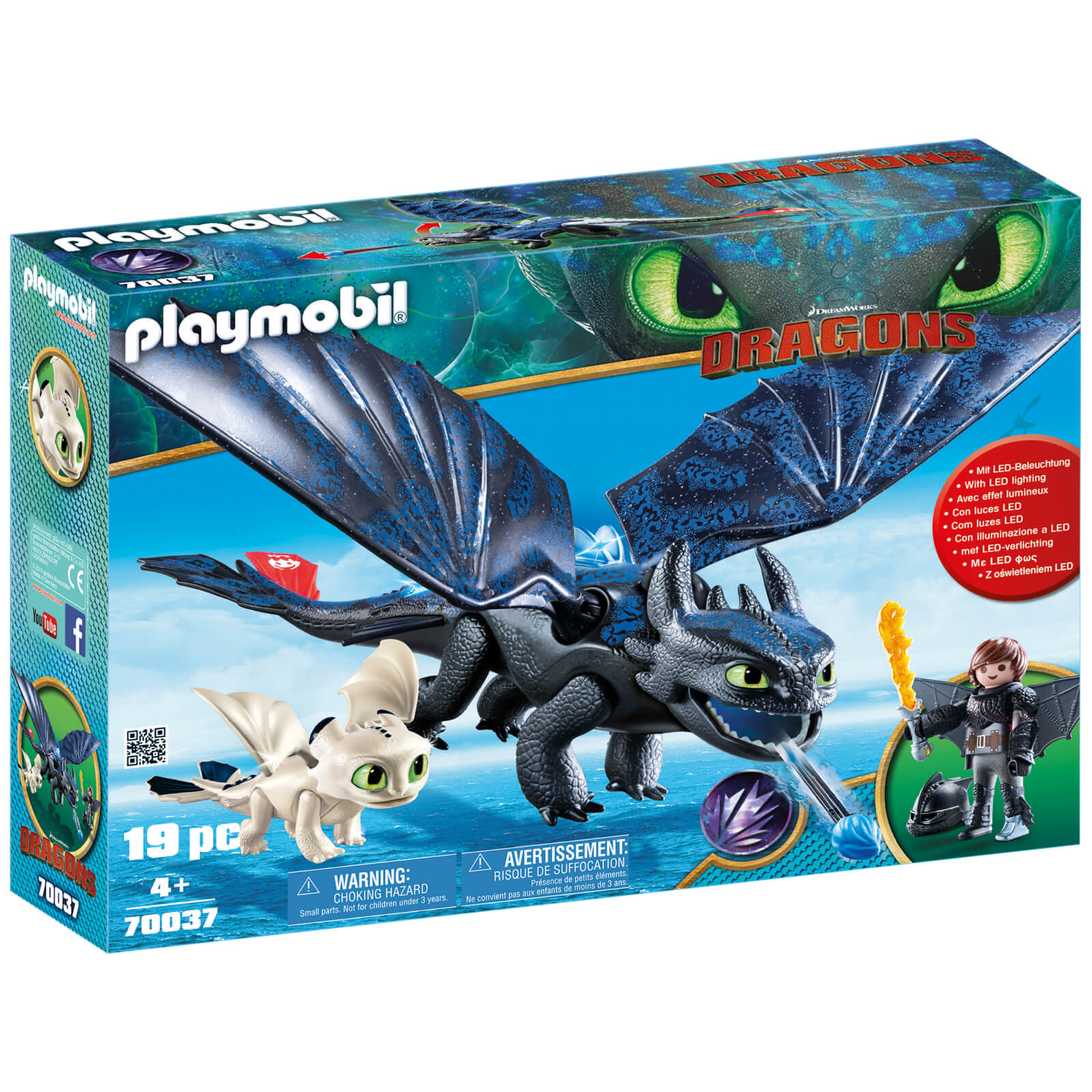 Image of Playmobil DreamWorks Dragons Hiccup and Toothless with Baby Dragon (70037)