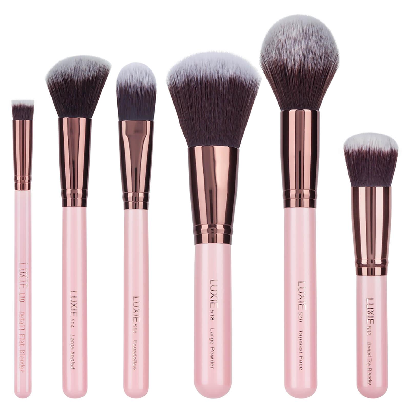 Купить Luxie Rose Gold Face Essential Brush Set