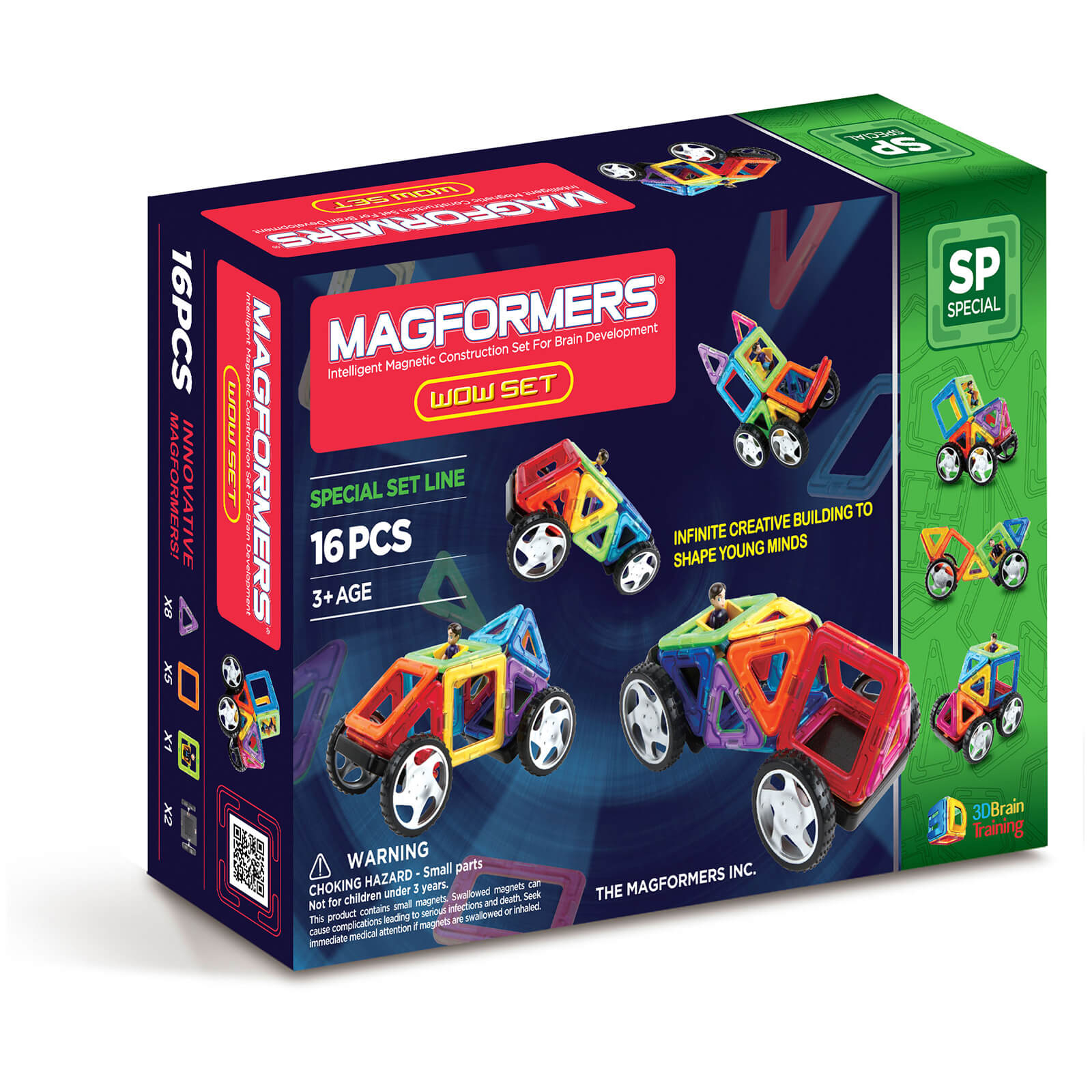 Magformers Wow Set – 16 Pieces