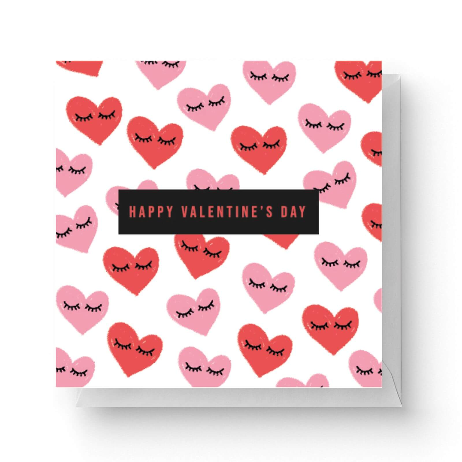 Image of Happy Valentine's Day Square Greetings Card (14.8cm x 14.8cm)