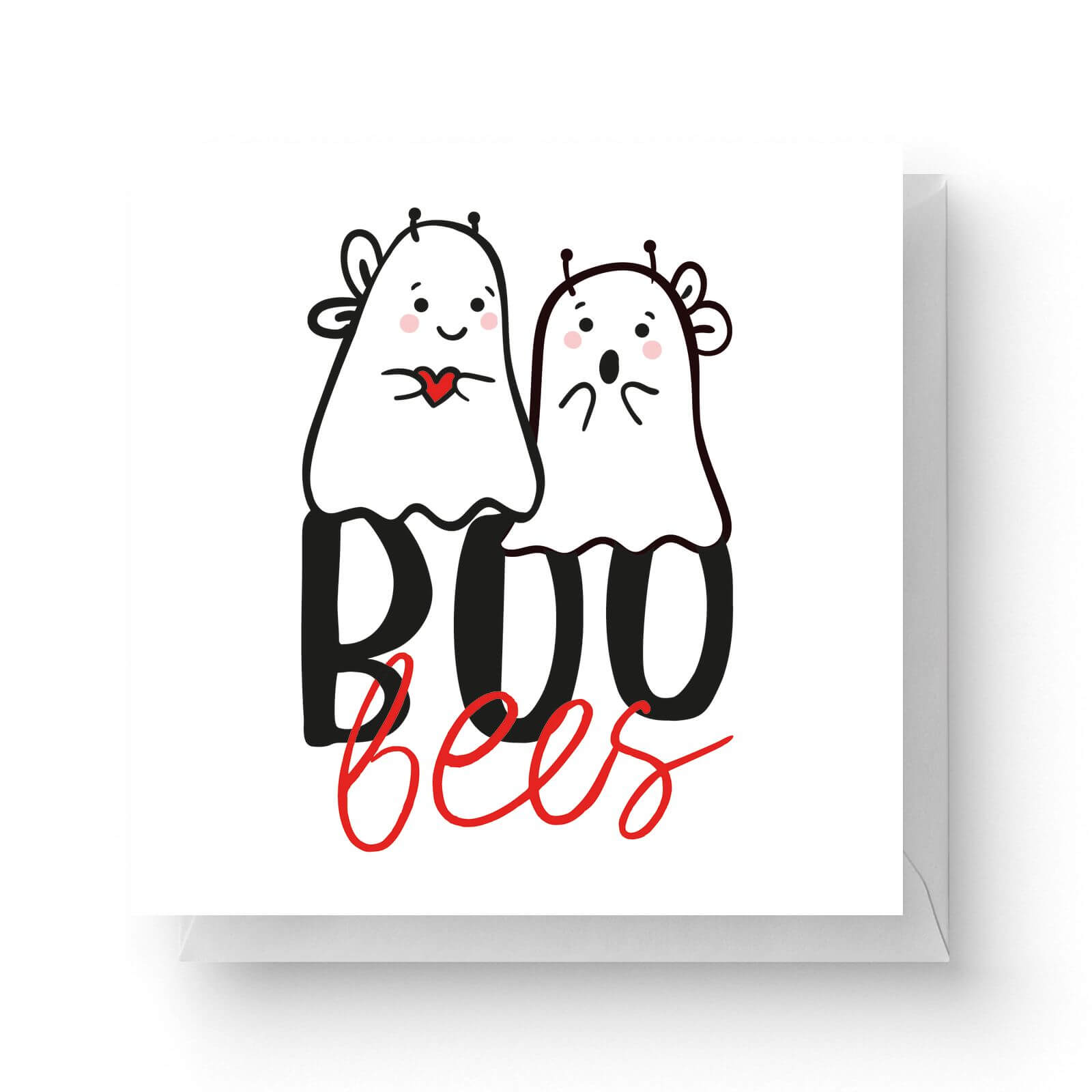 Image of Boo Bees Square Greetings Card (14.8cm x 14.8cm)