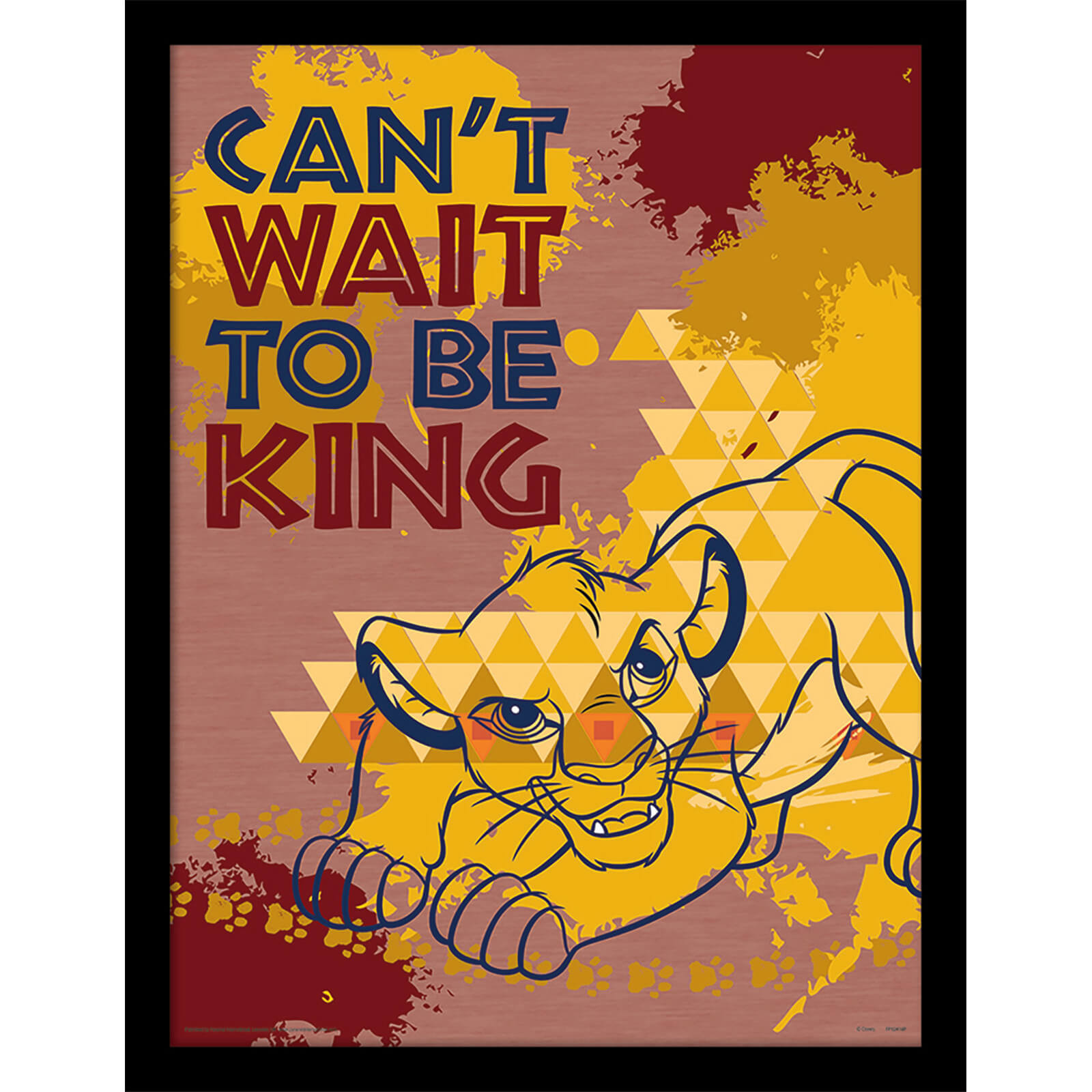 Image of The Lion King (Can't Wait to be King) 30 x 40cm Print