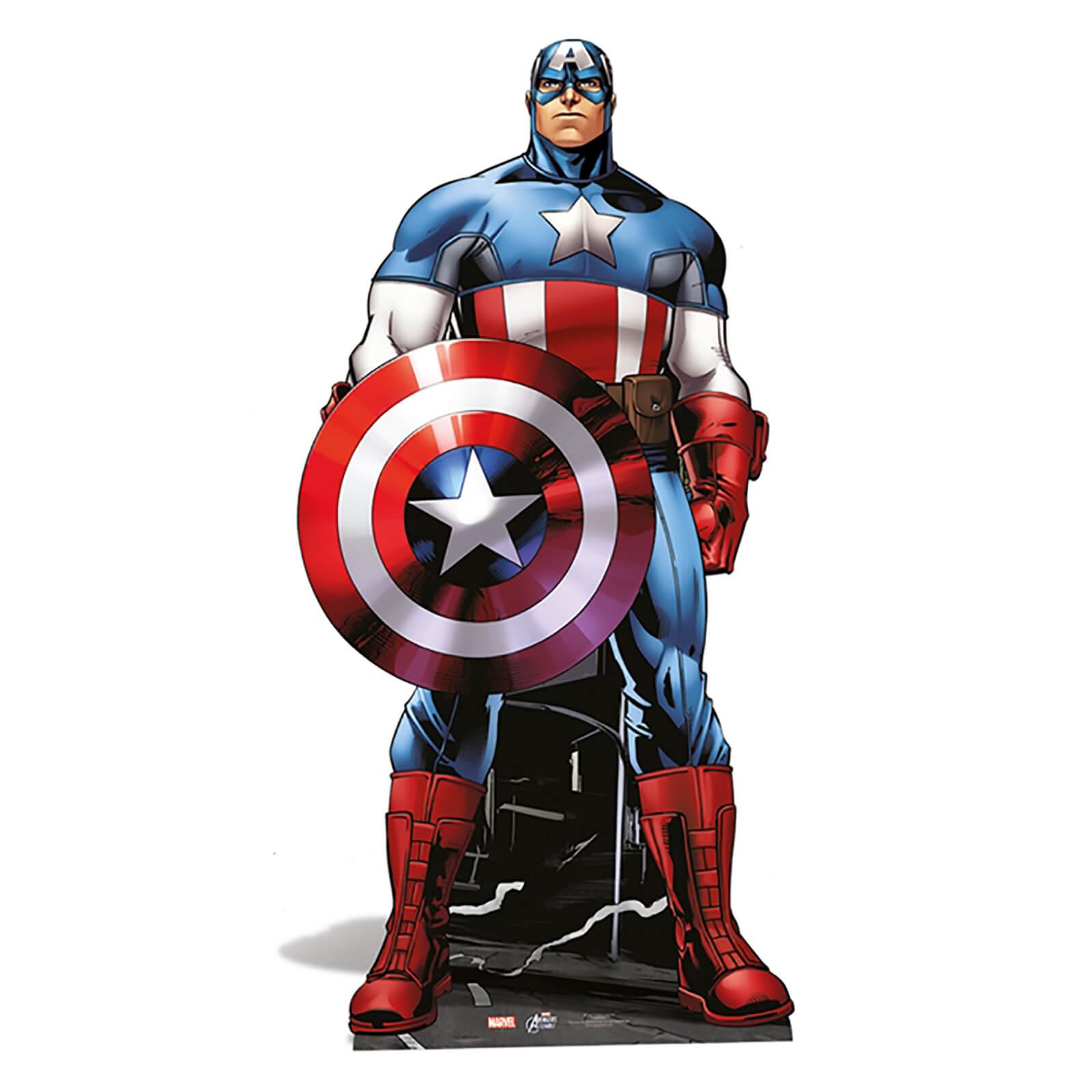Image of Marvel - Captain America Mini Cardboard Cut Out