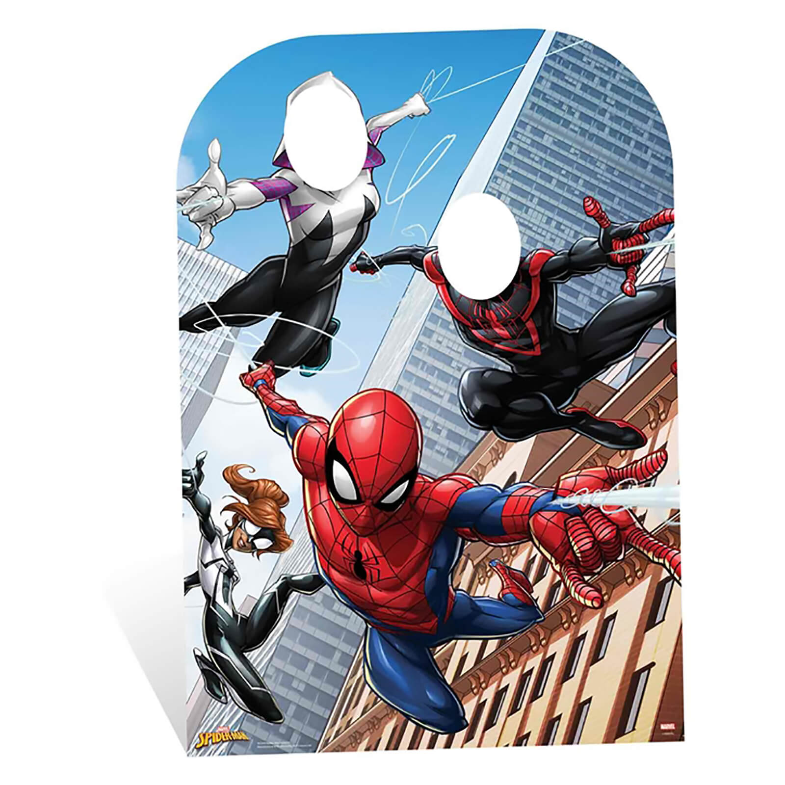 Image of Spider-Man Web Warriors Stand-In Child Size Cardboard Cut Out