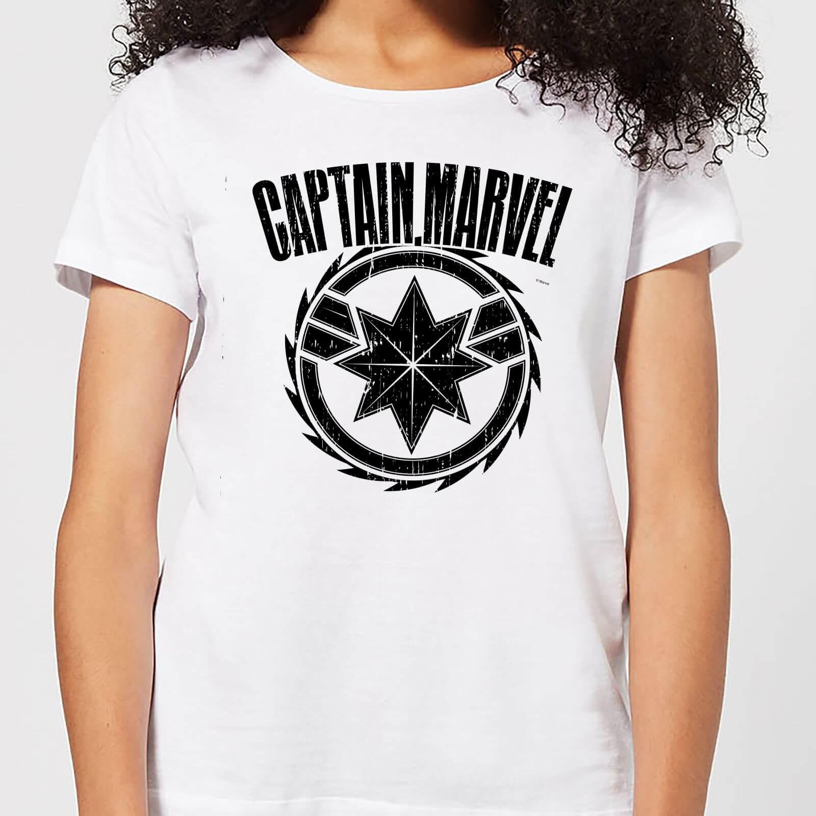 Captain Marvel Logo Women's T-Shirt - White - 4XL - Weiß