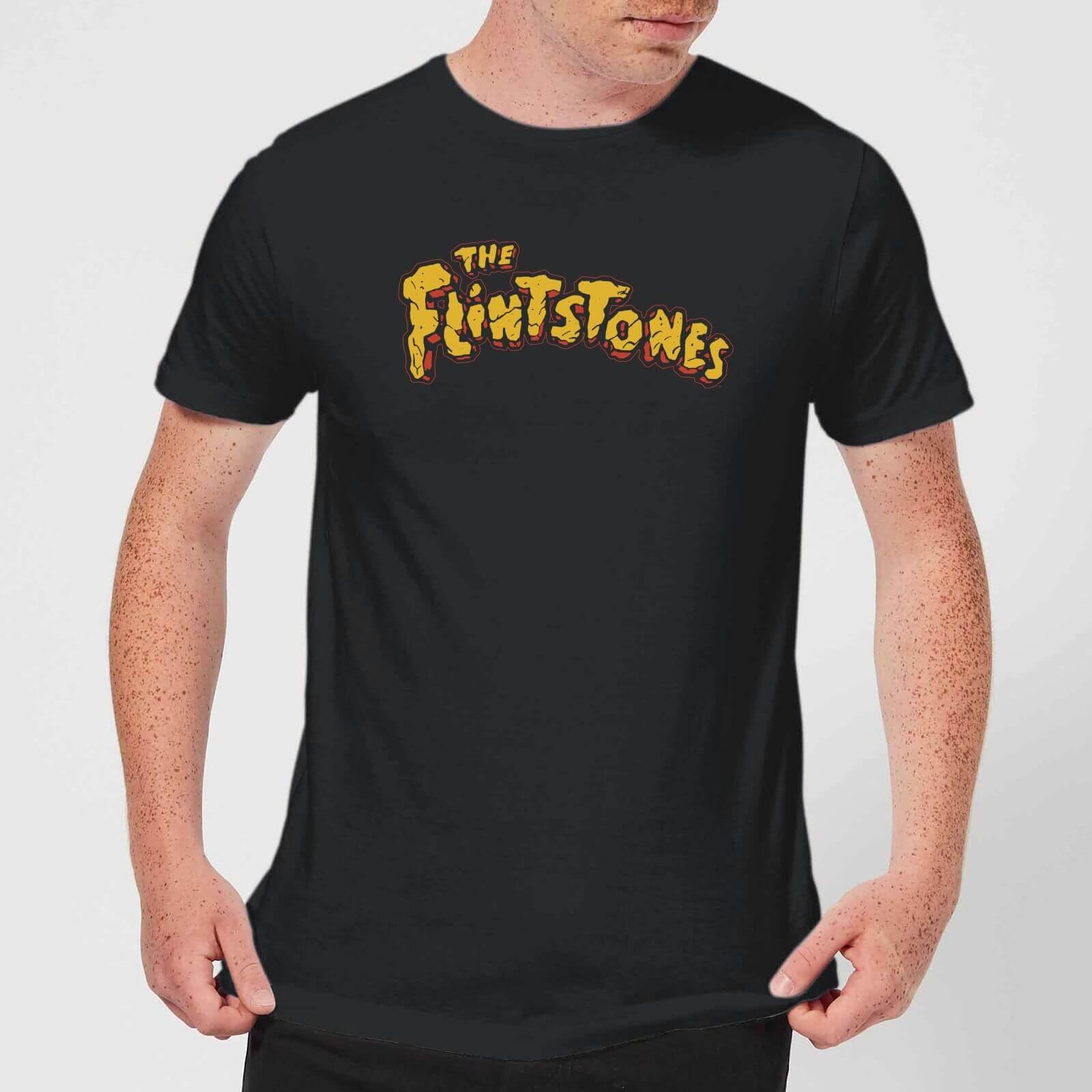 The Flintstones Logo Men's T Shirt Black XS Zwart