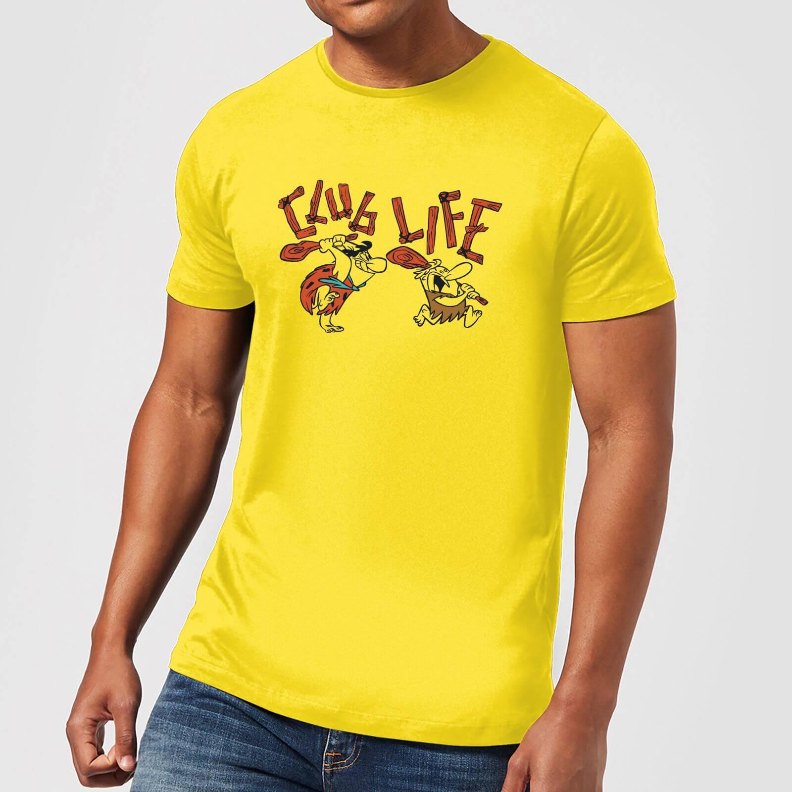 The Flintstones Club Life Men's T Shirt Yellow XS Geel