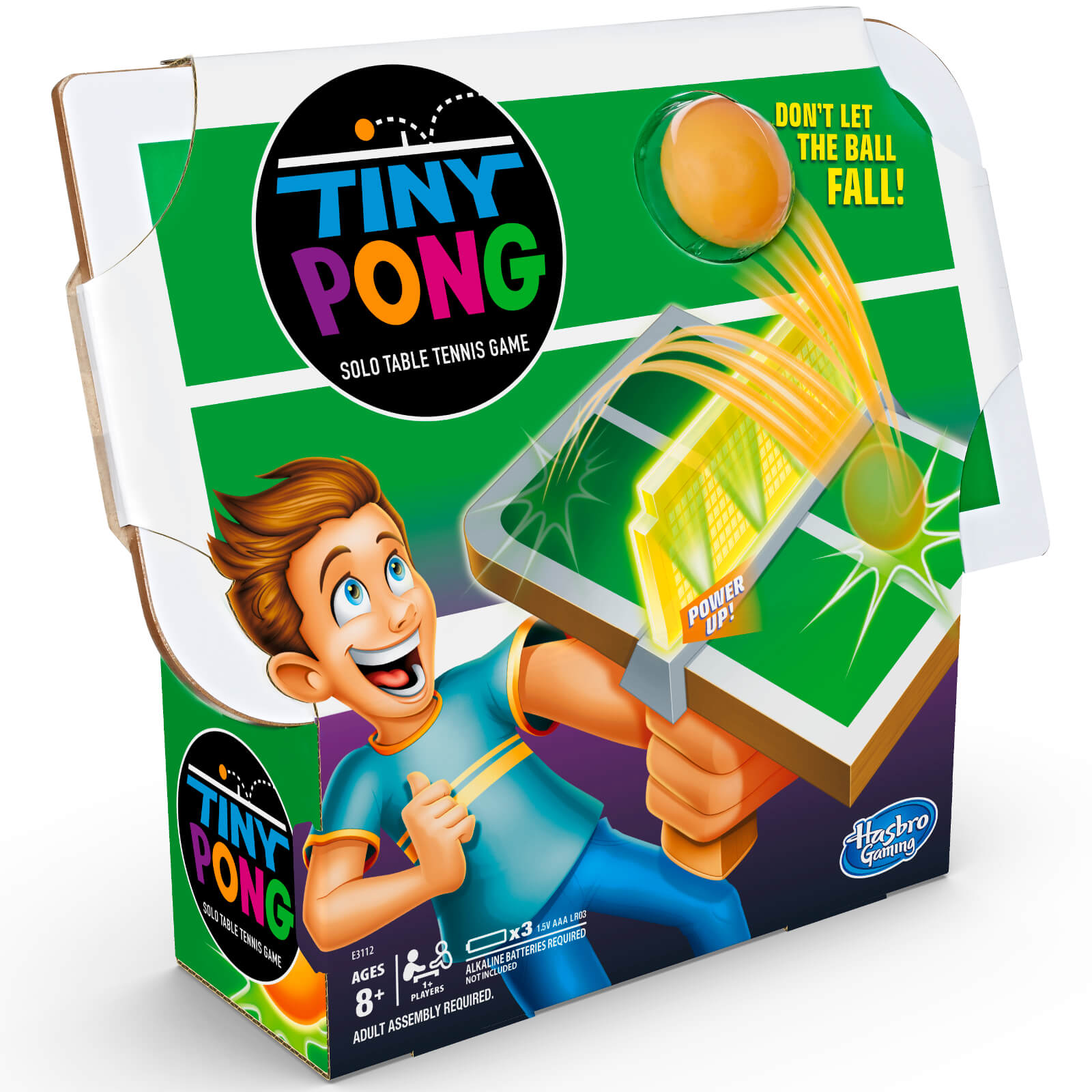 Image of Hasbro Tiny Pong Solo Table Tennis Handheld Game