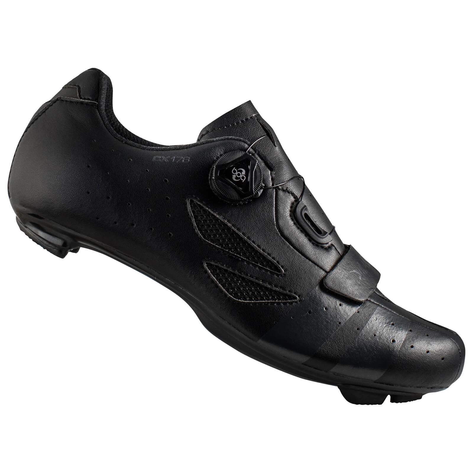 Lake Cx176 Wide Fit Road Shoes - Black/grey - Eu 47