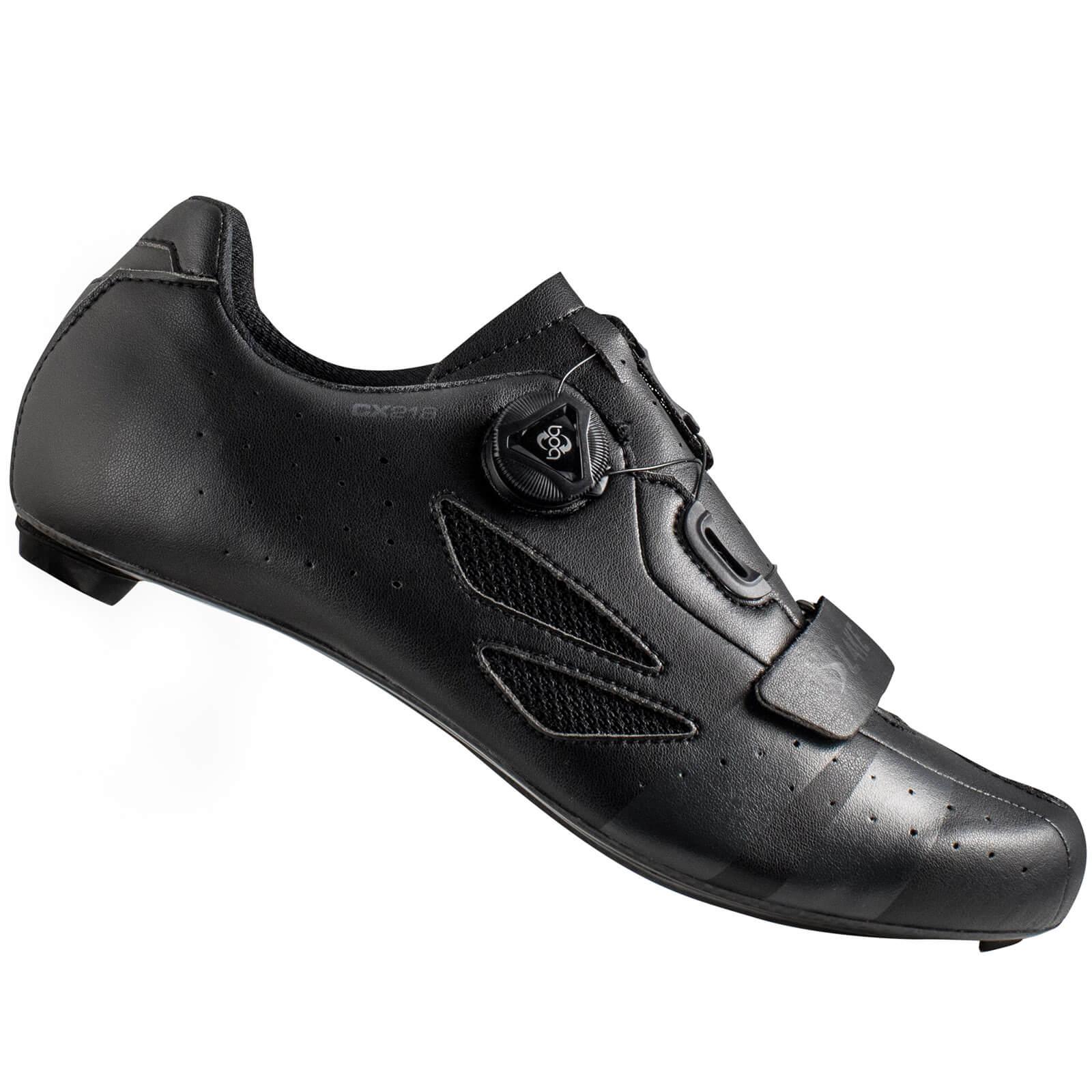 Lake CX218 Carbon Road Shoes - Black/Grey - EU 44
