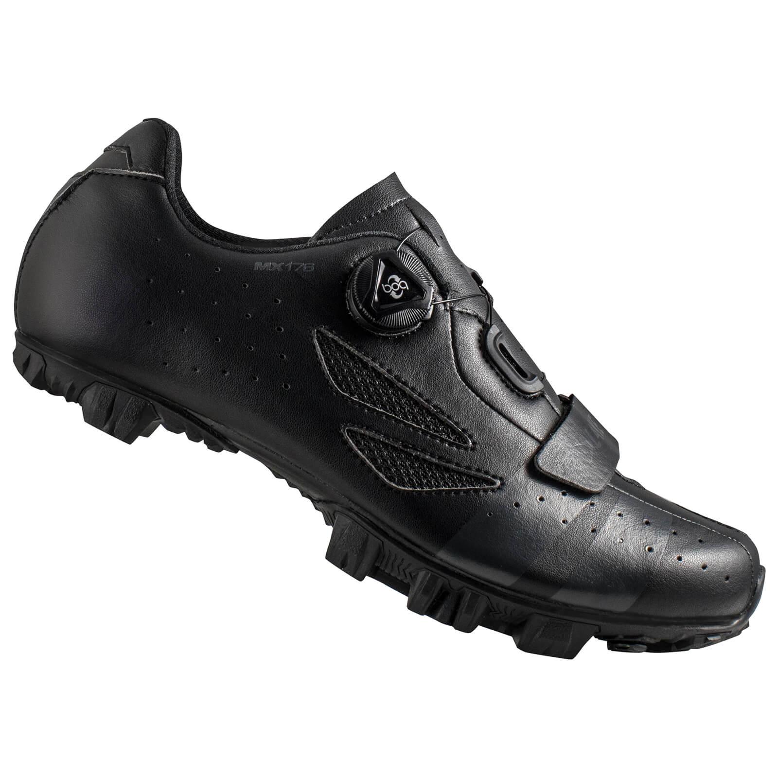 Lake MX176 Wide Fit MTB Shoes - Black/Grey - EU 46