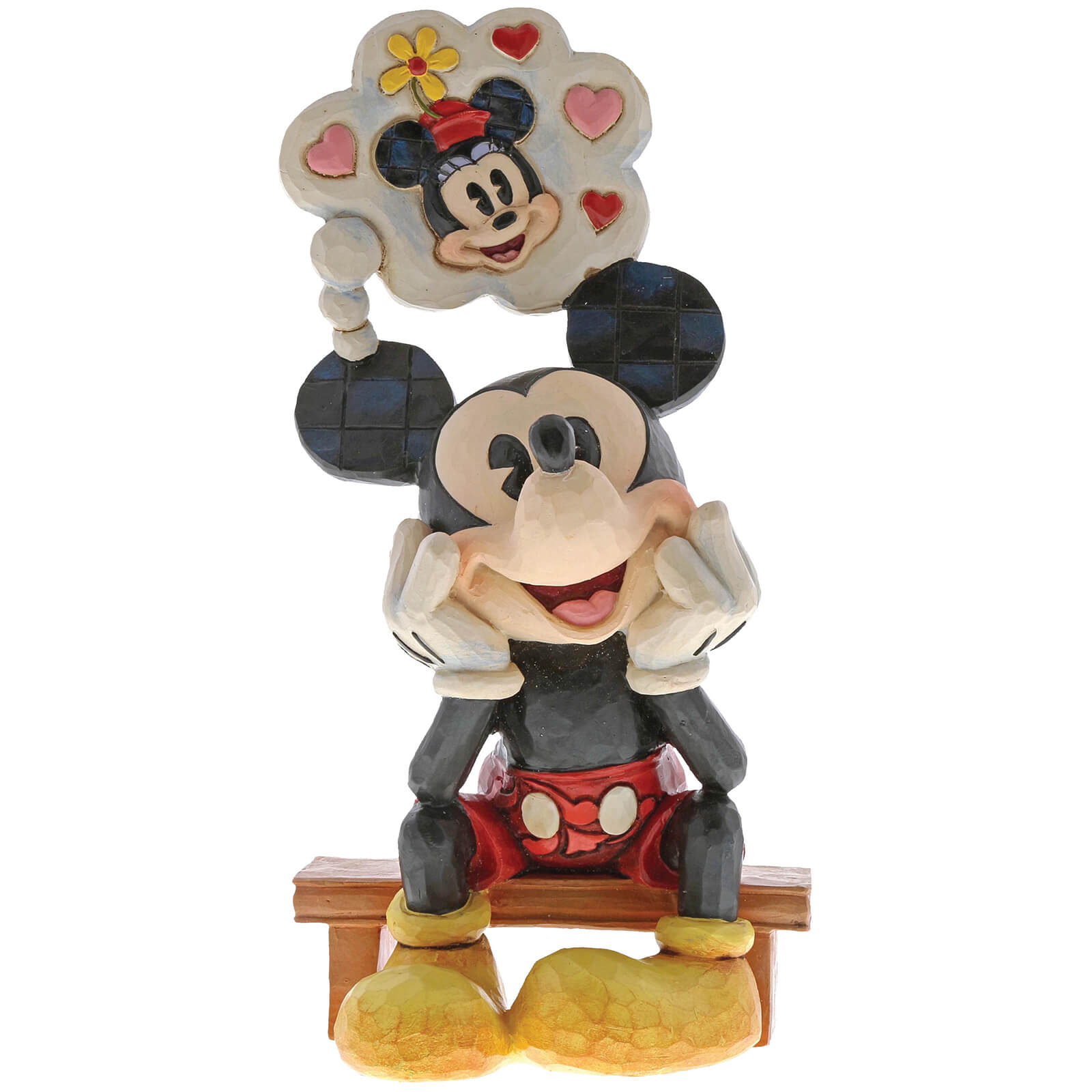 Image of Disney Traditions Thinking of You (Mickey Mouse with Thought Figurine) 15.5cm