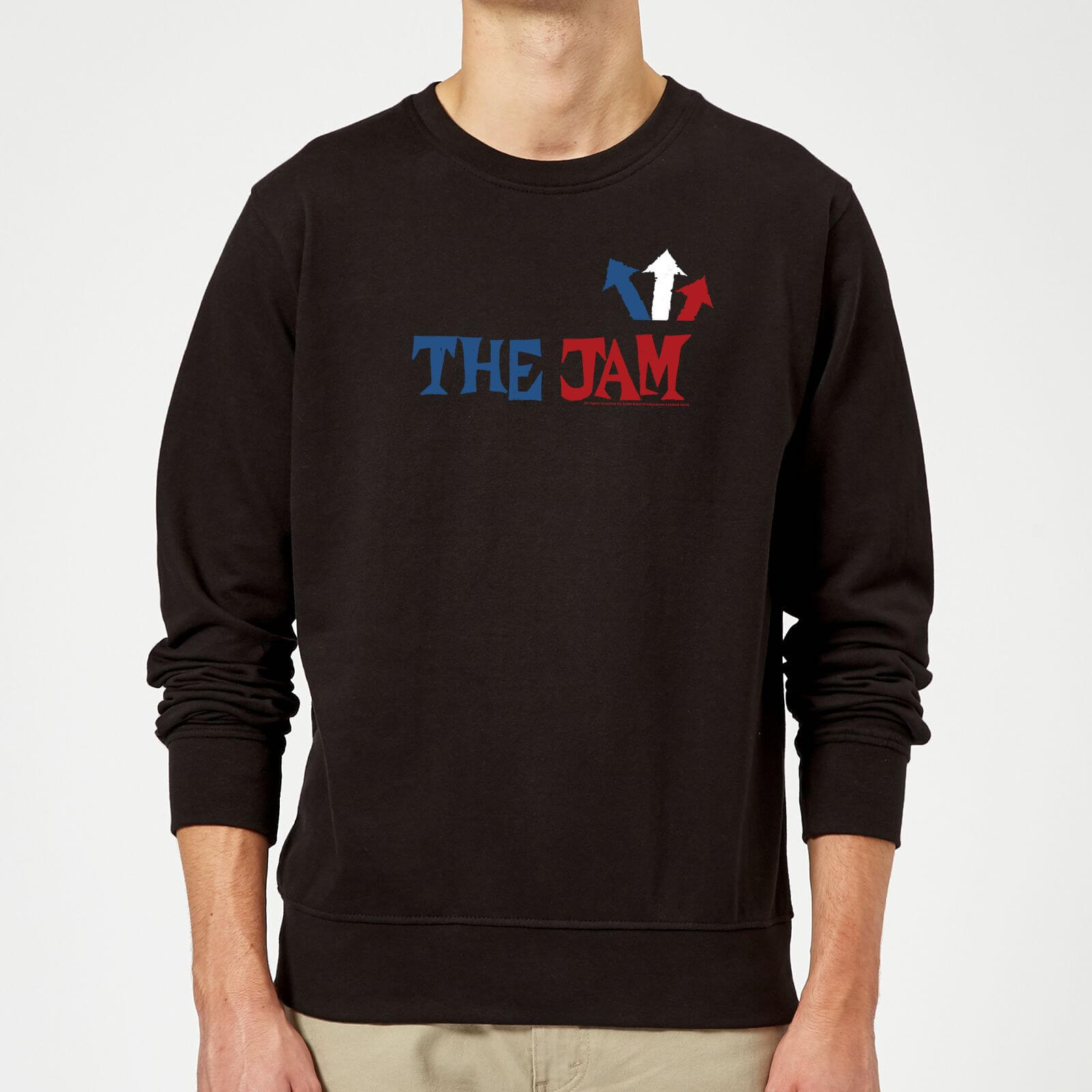The Jam Text Logo Sweatshirt - Black - XL - Black