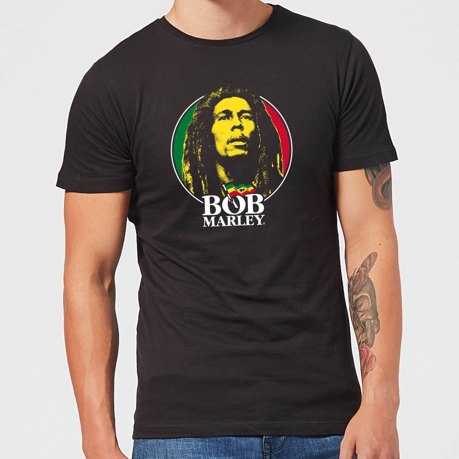 Bob Marley Face Logo Men's T Shirt Black XS Zwart
