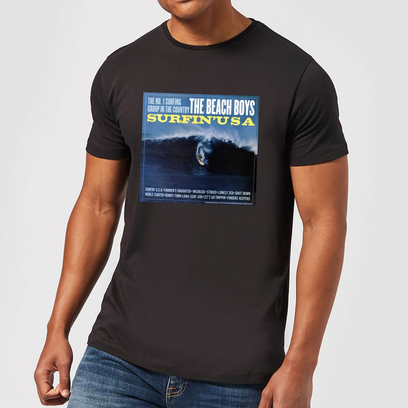 The Beach Boys Surfin USA Men's T Shirt Black XS