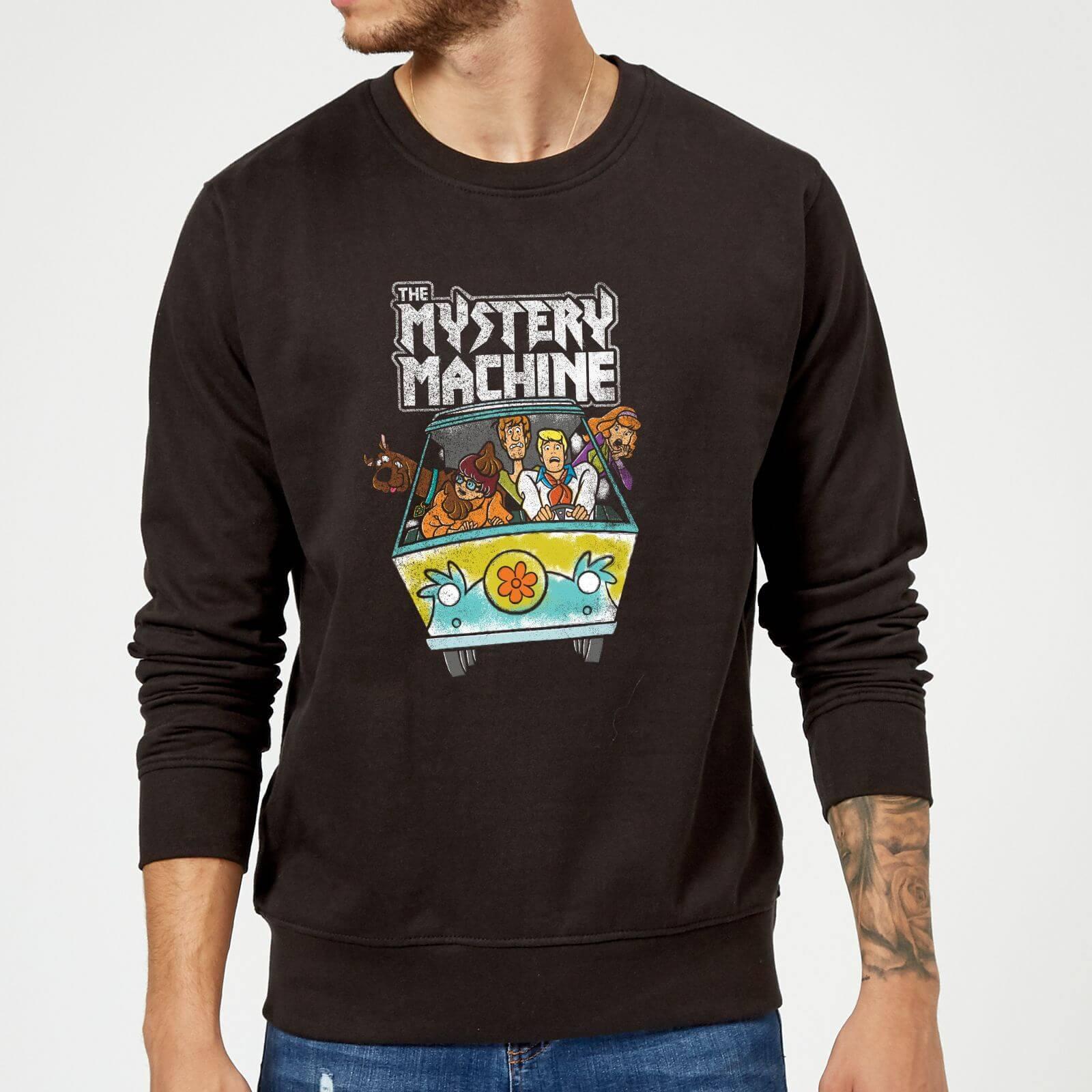 Scooby Doo Mystery Machine Heavy Metal Sweatshirt - Black - M - Black