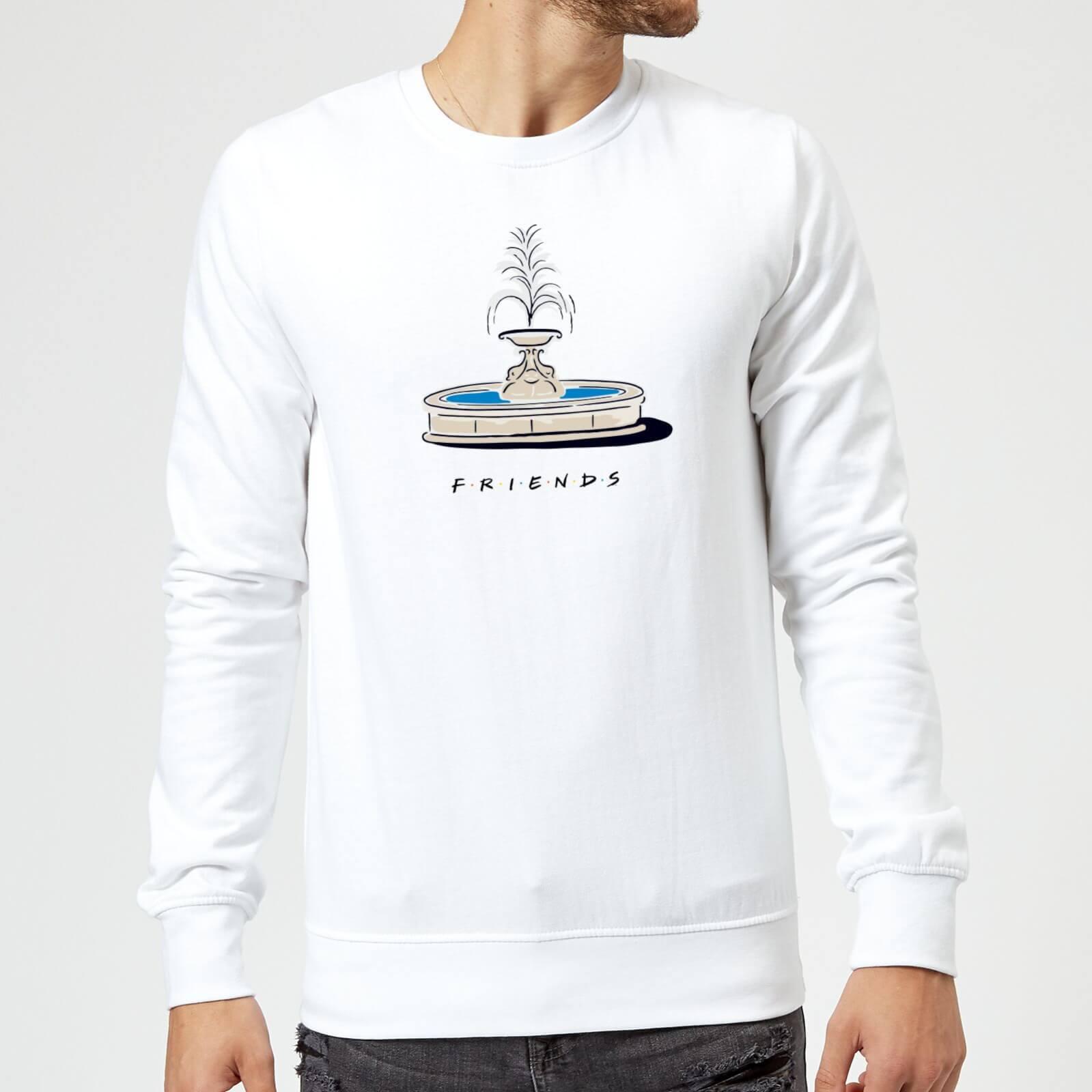 Friends Fountain Sweatshirt - White - M - White
