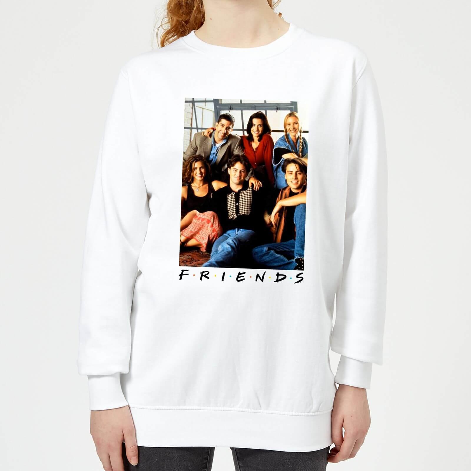 Friends Group Photo Women's Sweatshirt - White - M - White