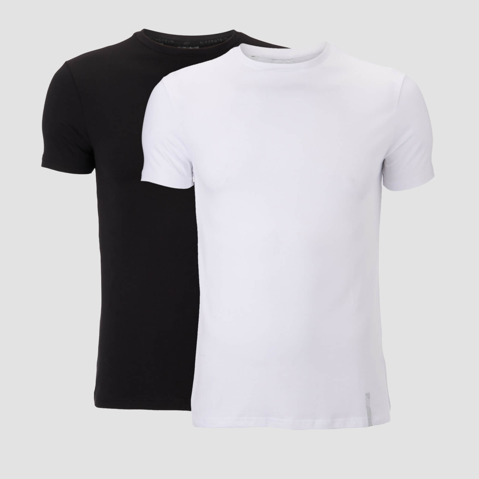 MP Men's Luxe Classic Crew T-Shirt - Black/White (2 Pack) - XS