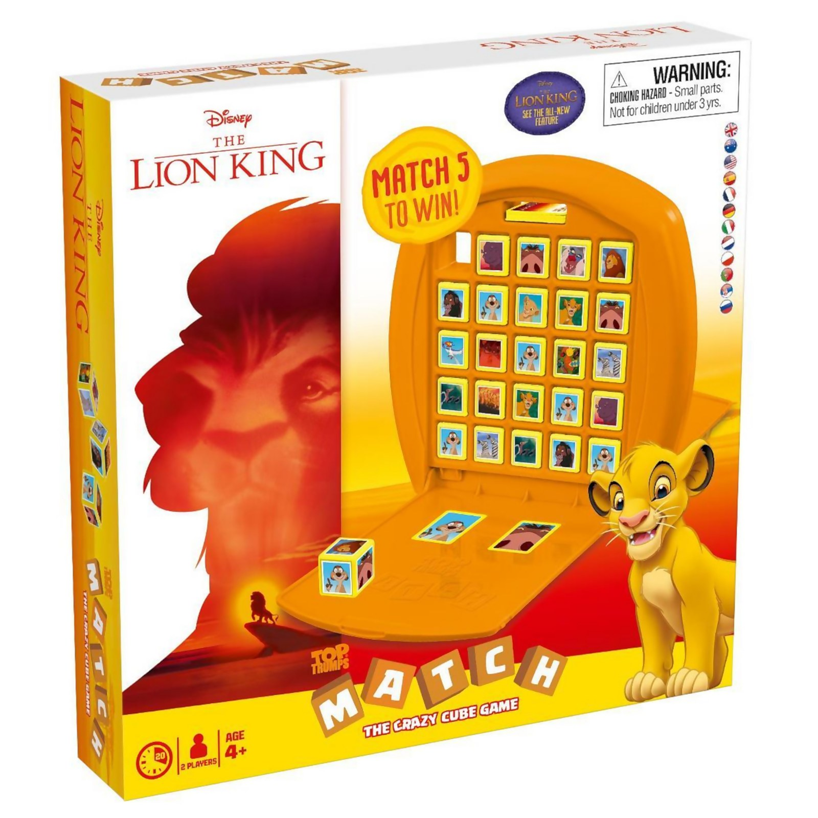 Image of Top Trumps Match Board Game - The Lion King Edition