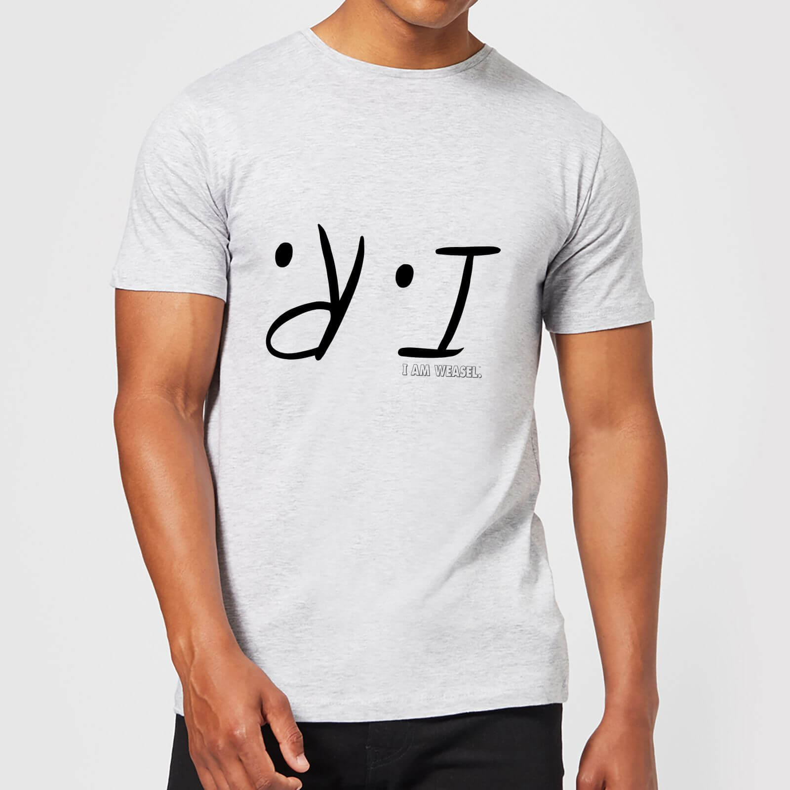I Am Weasel I.R. Men's T-Shirt - Grey - XXL - Grey