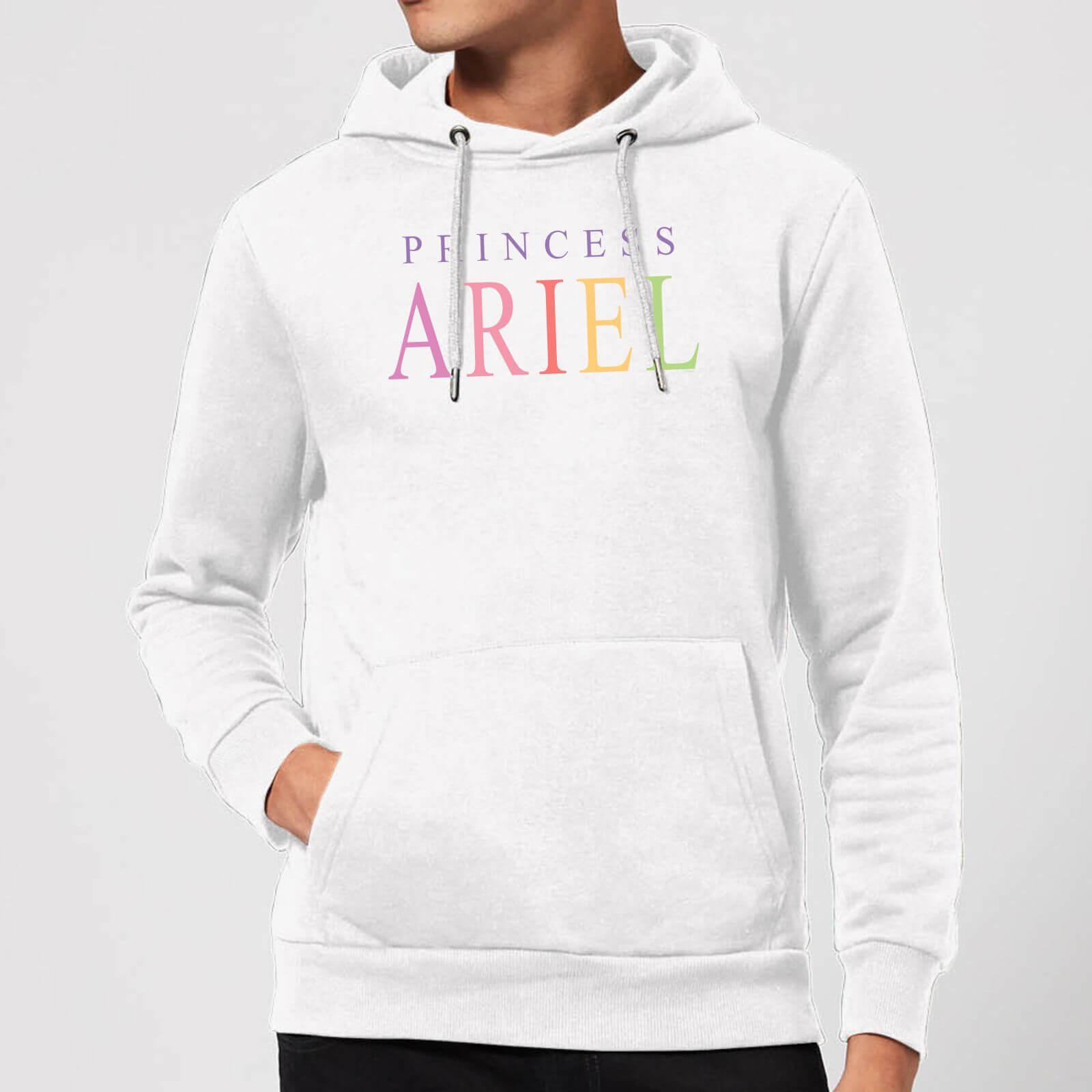 disney the little mermaid princess ariel hoodie - white - s - white