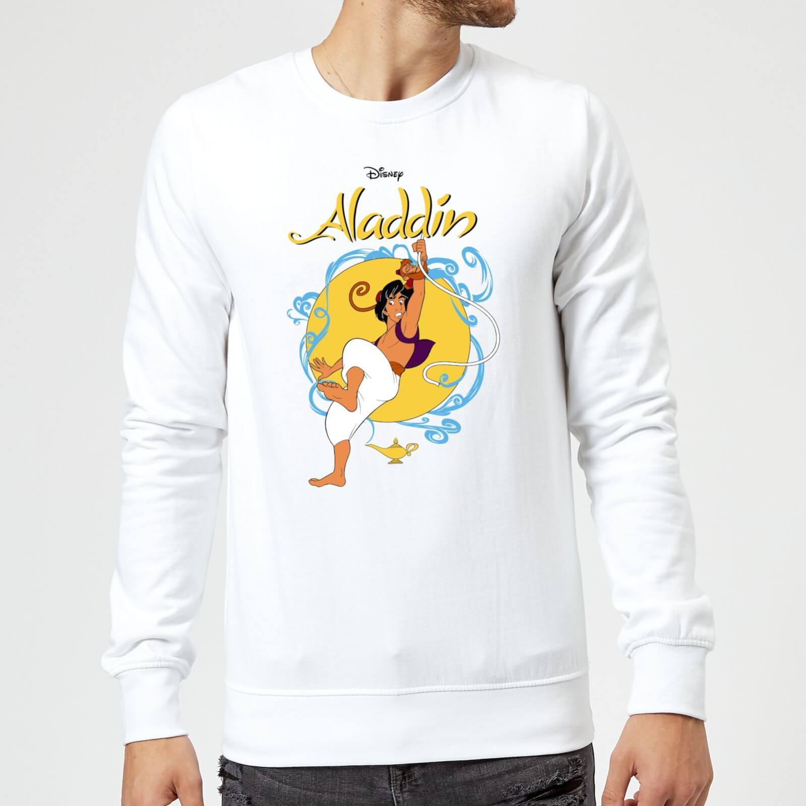 Disney Aladdin Rope Swing Sweatshirt   White   L   White