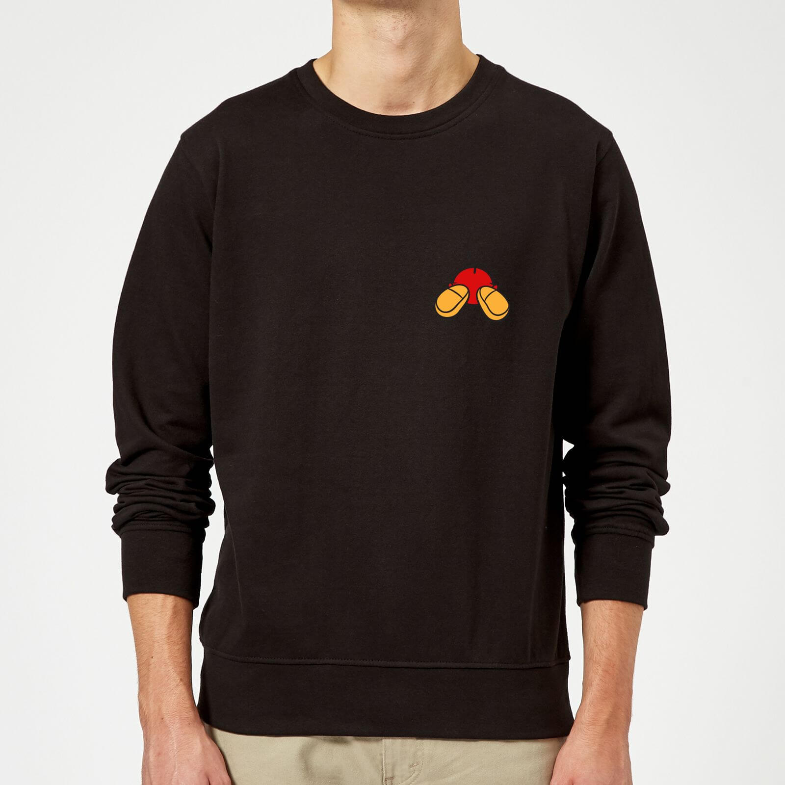 Disney Mickey Mouse Backside Sweatshirt - Schwarz - L - Schwarz