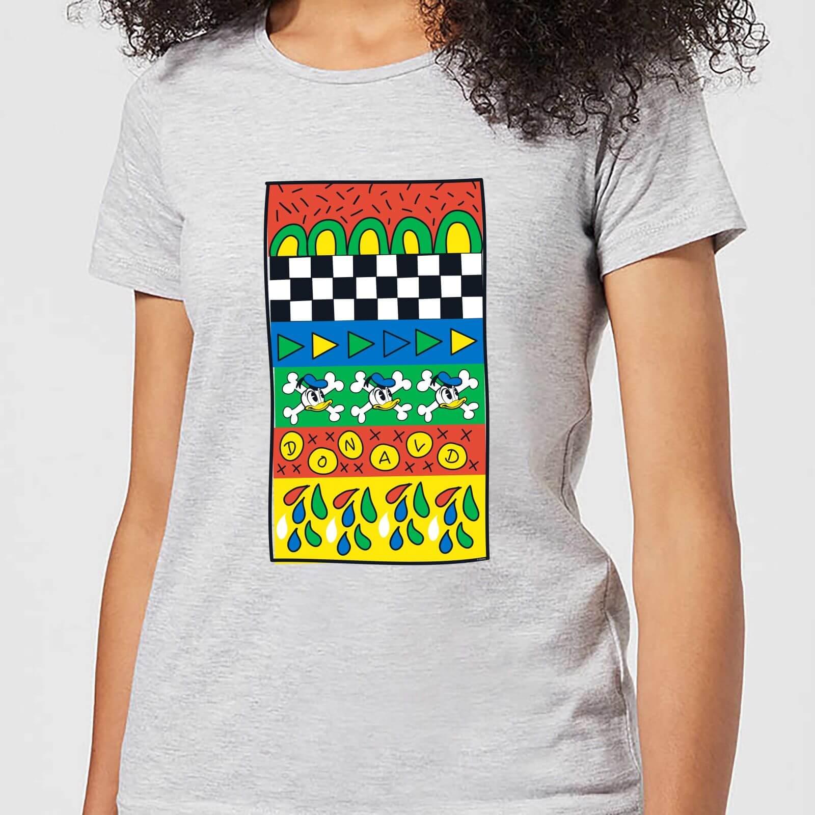 Disney Donald Duck Vintage Pattern Women's T-Shirt - Grey - 4XL - Grey