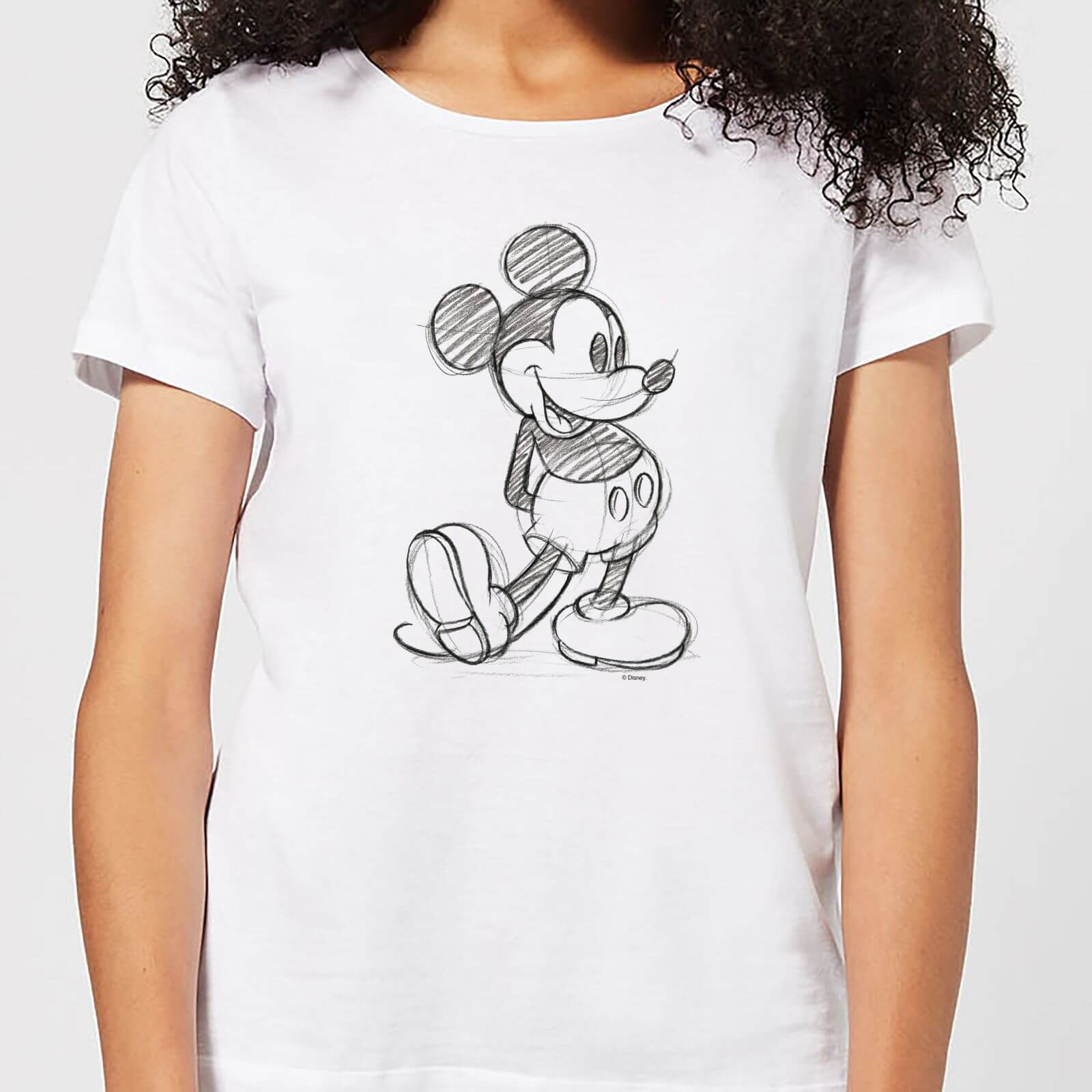 Disney Disney Mickey Mouse Sketch Women's T-Shirt - White - 3XL - White