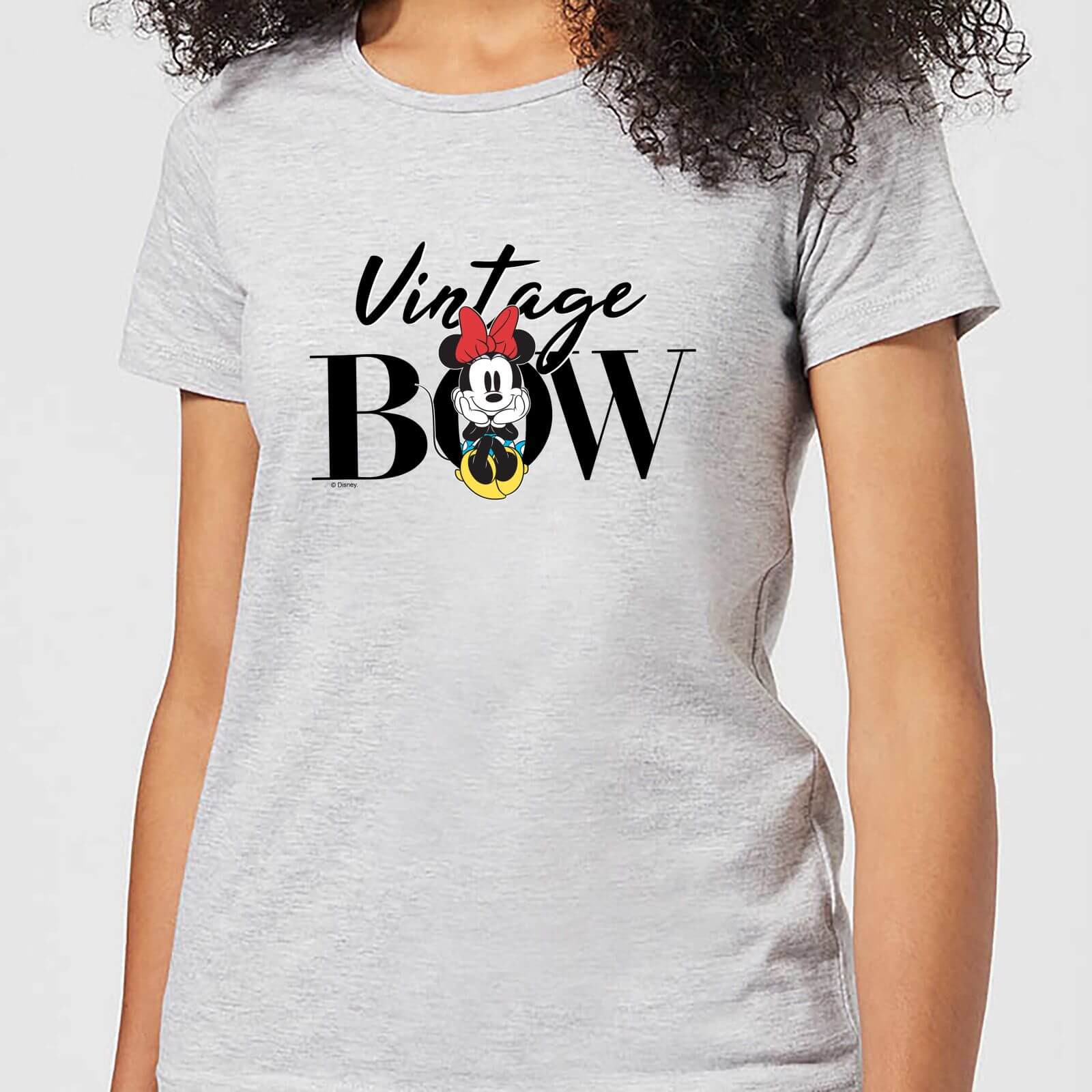 Disney Disney Minnie Mouse Vintage Bow Women's T-Shirt - Grey - 3XL - Grey
