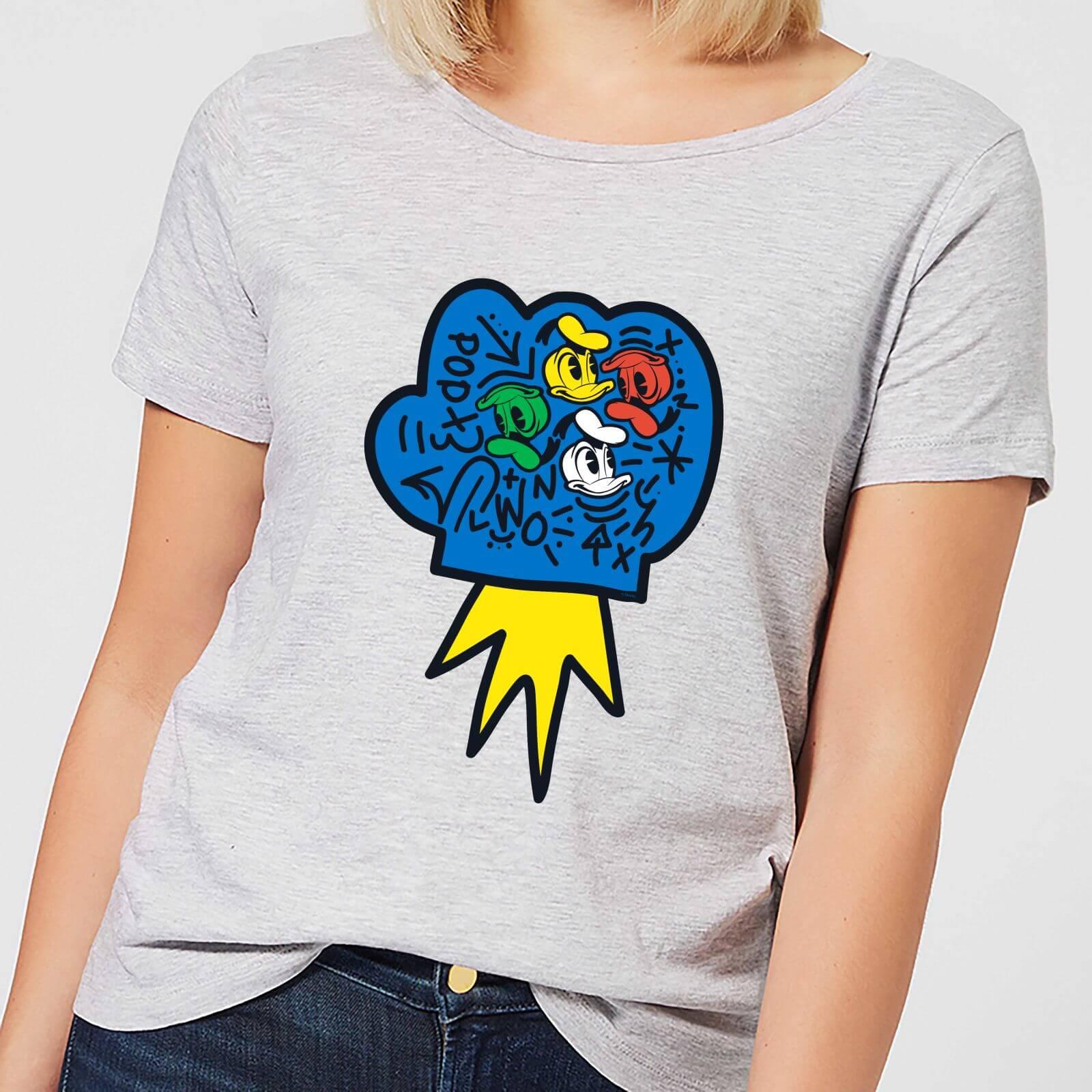Disney Donald Duck Pop Fist Women's T-Shirt - Grey - 4XL - Grey