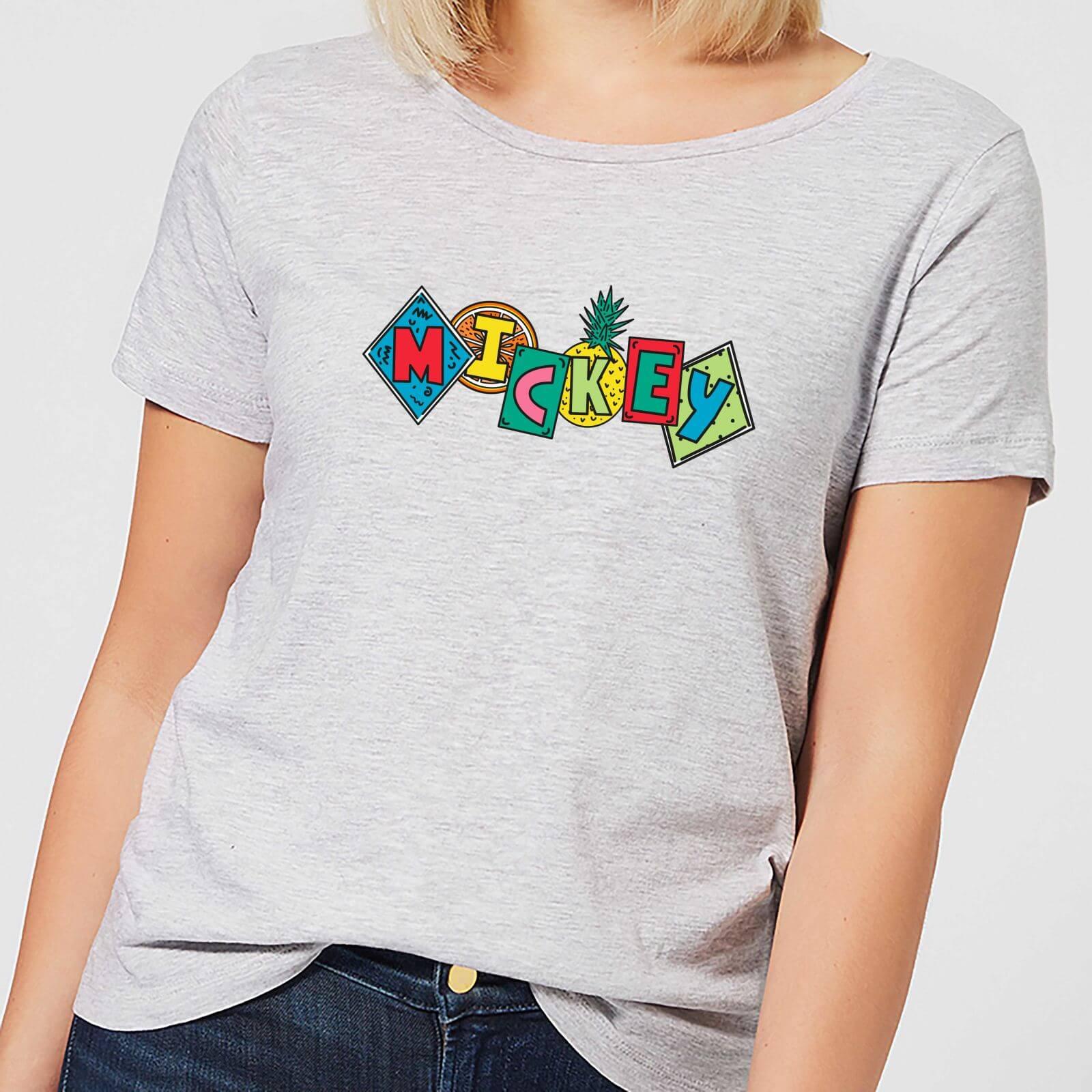 Disney Disney Mickey Fruit Blocks Women's T-Shirt - Grey - 4XL - Grey