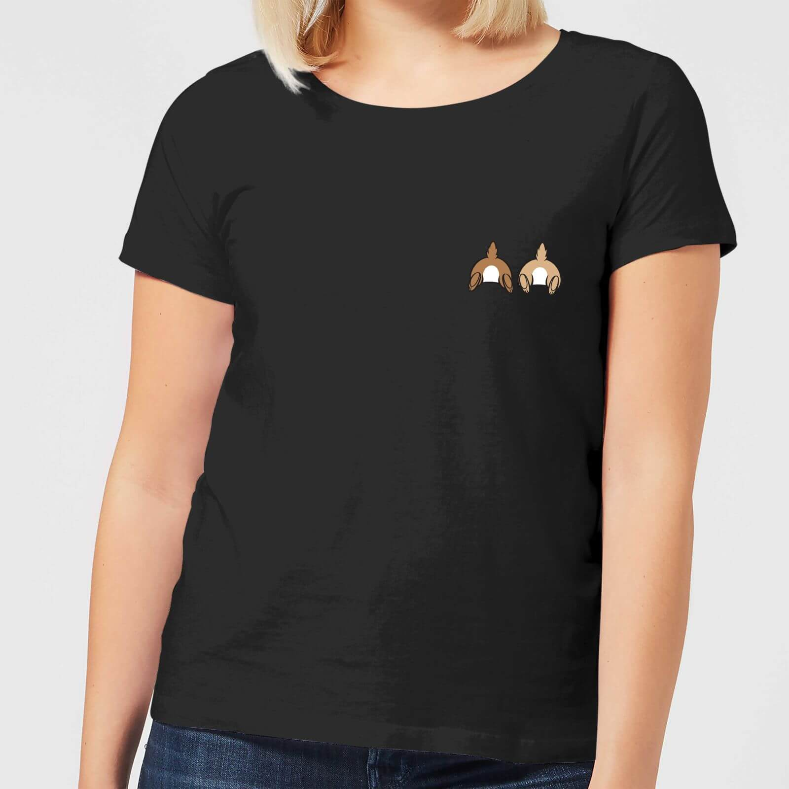 Disney Disney Chip And Dale Backside Women's T-Shirt - Black - 4XL - Black