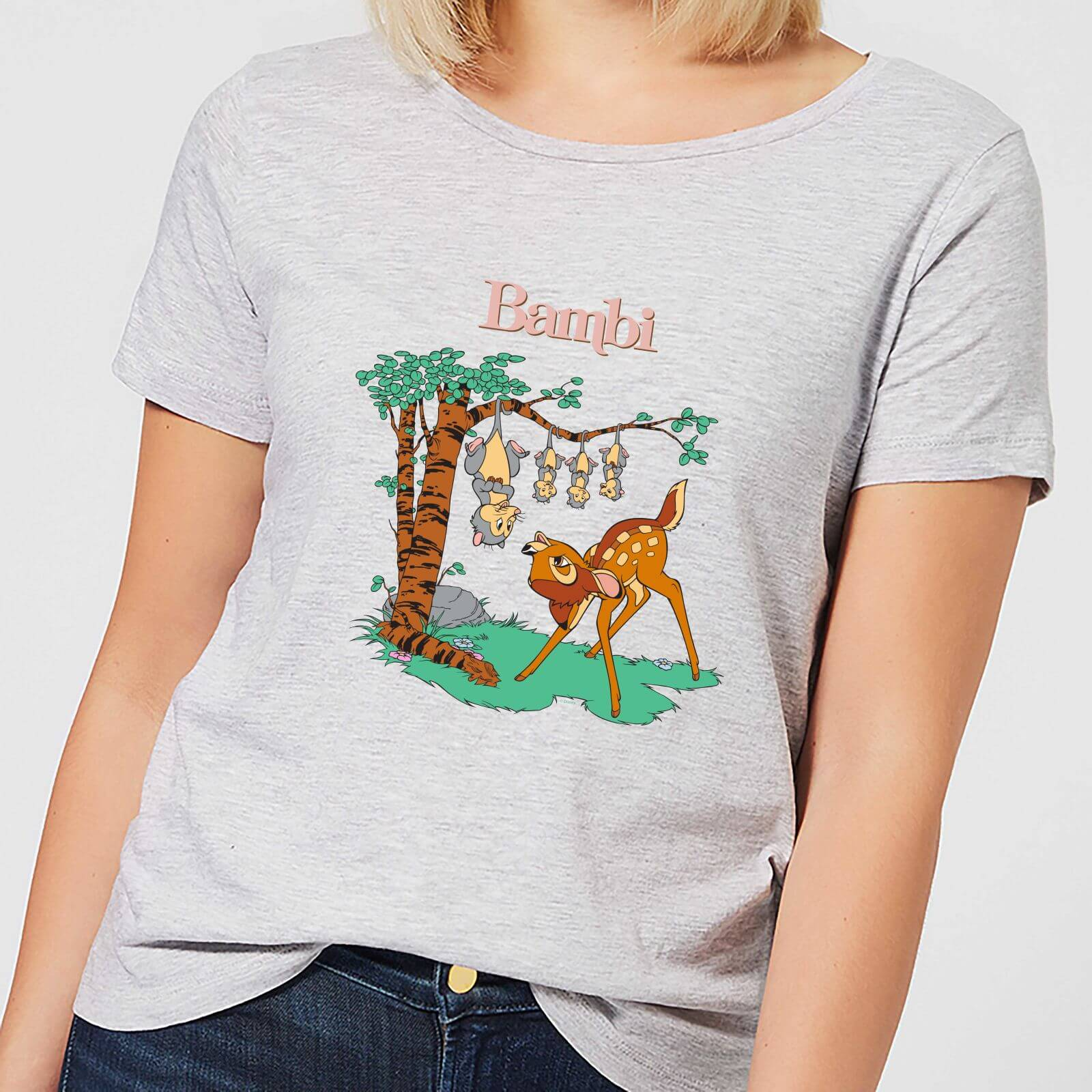 Disney Disney Bambi Tilted Up Women's T-Shirt - Grey - 3XL - Grey