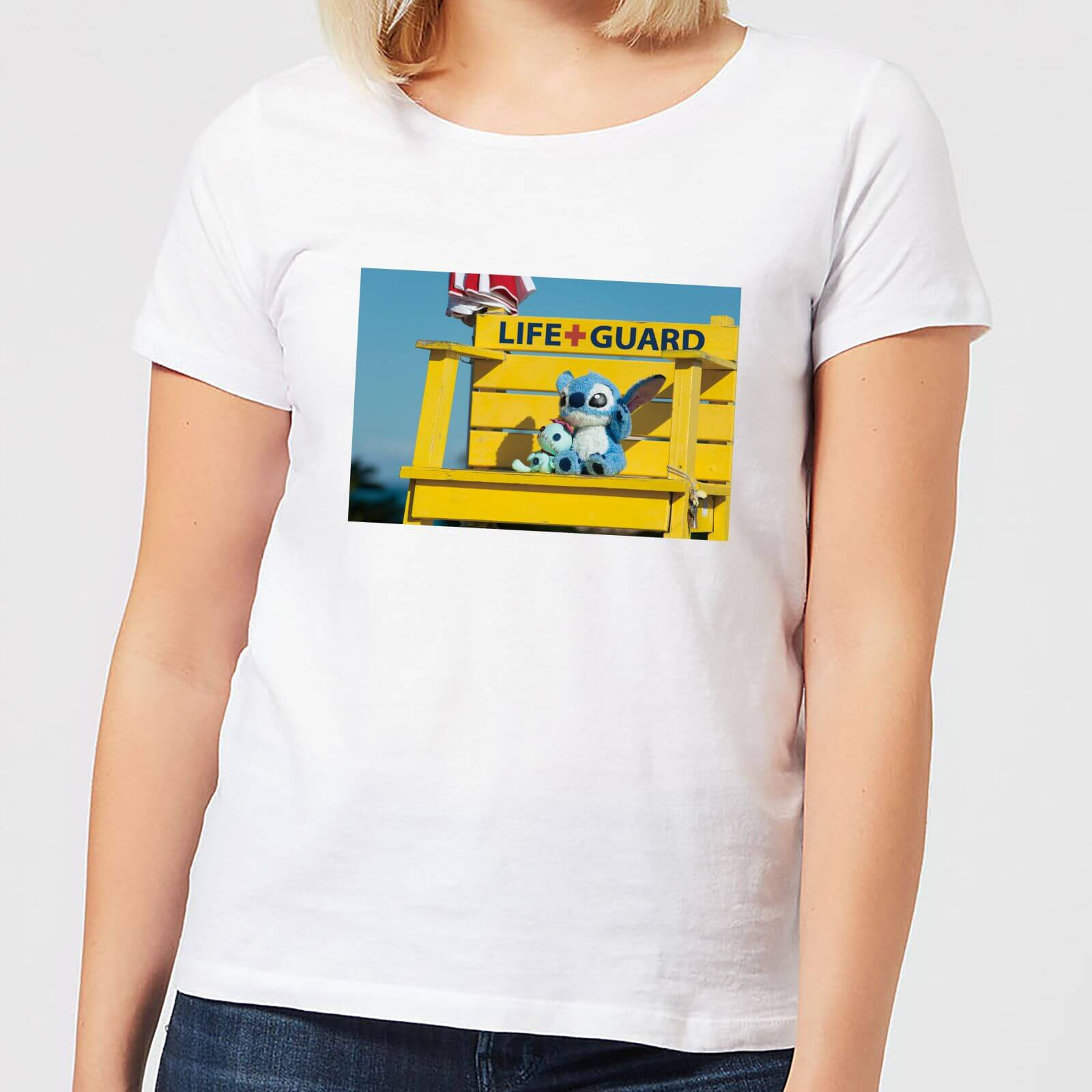 Disney Disney Lilo And Stitch Life Guard Women's T-Shirt - White - 4XL - White