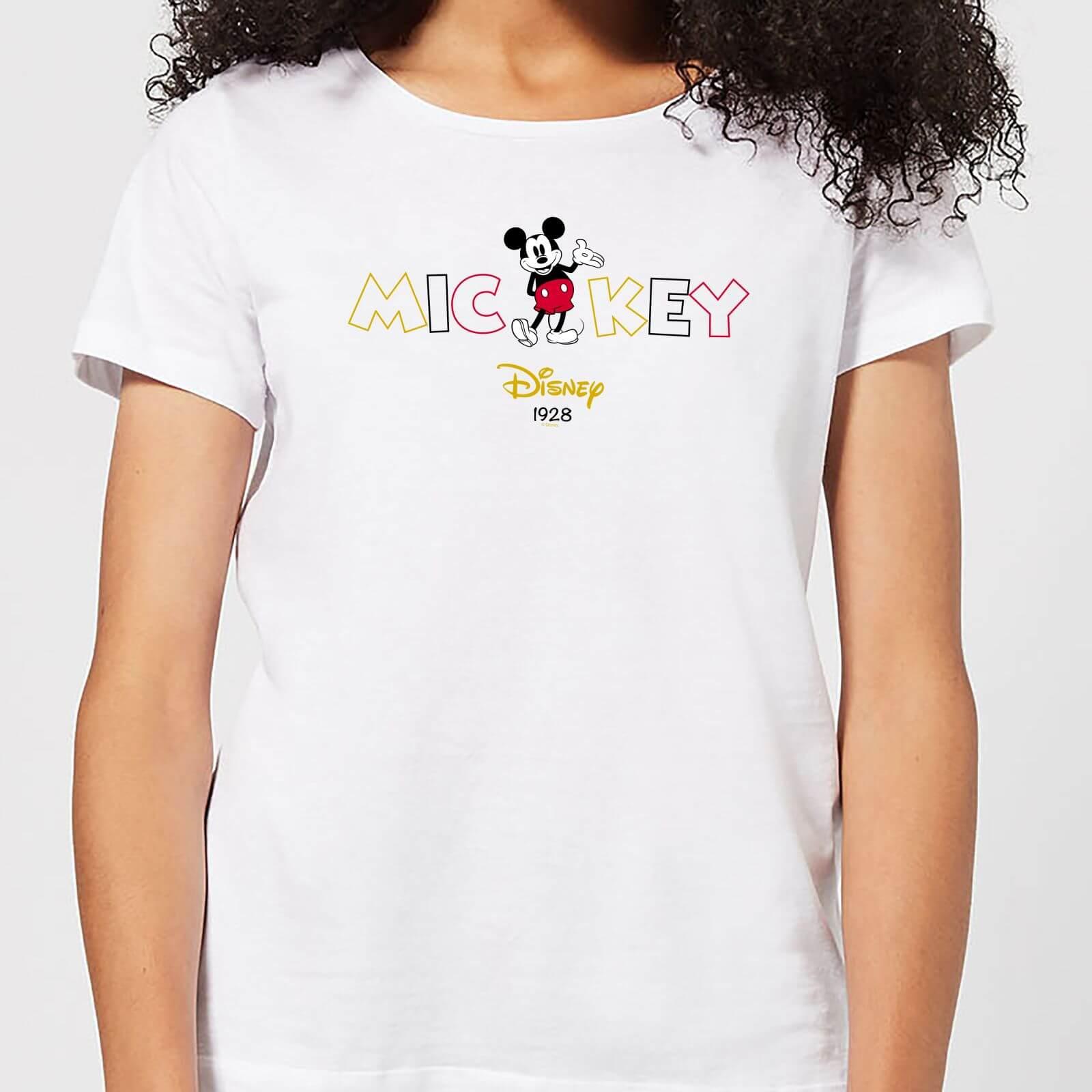 Disney Disney Mickey Mouse Disney Wording Women's T-Shirt - White - 4XL - White