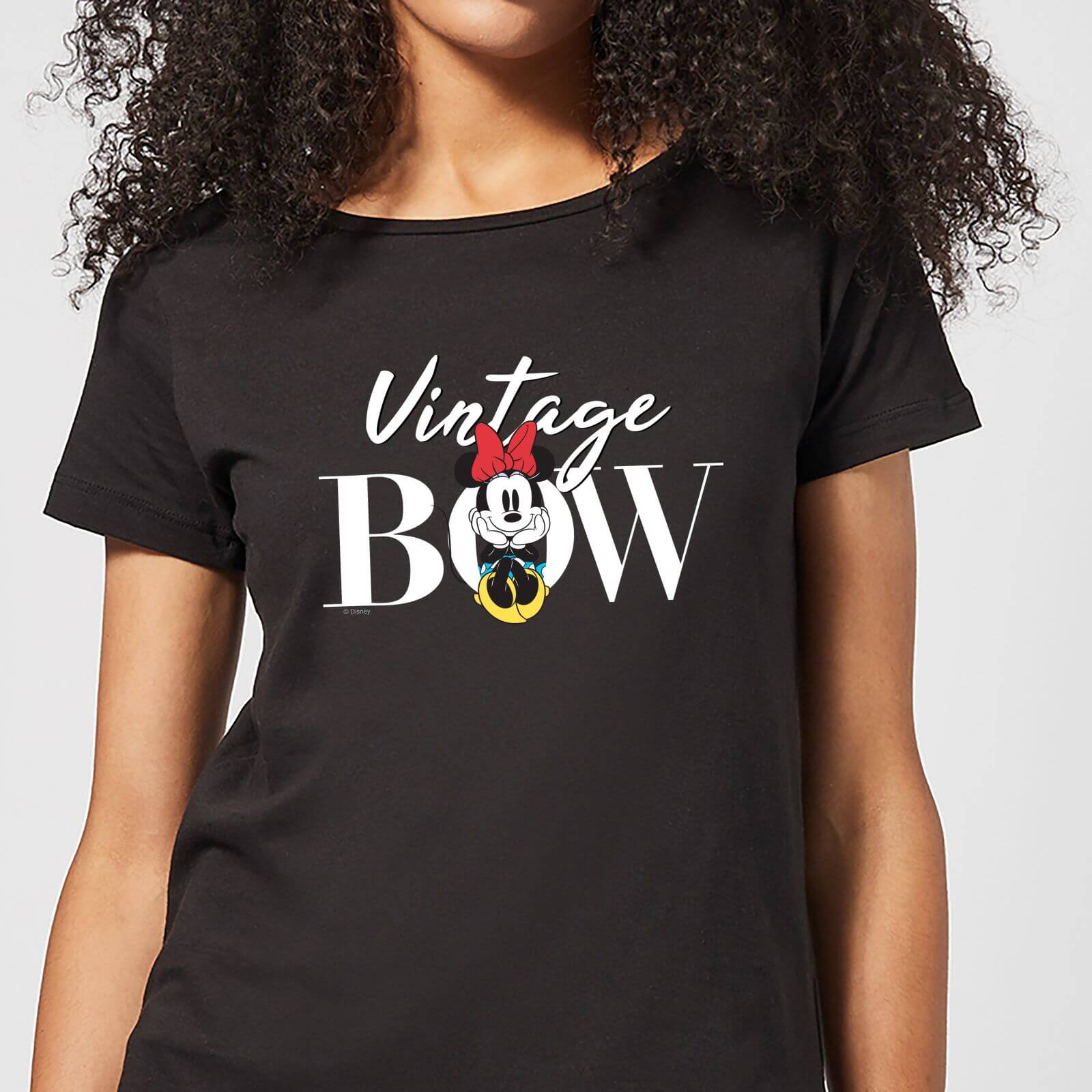 Disney Disney Minnie Mouse Vintage Bow Women's T-Shirt - Black - 3XL - Black