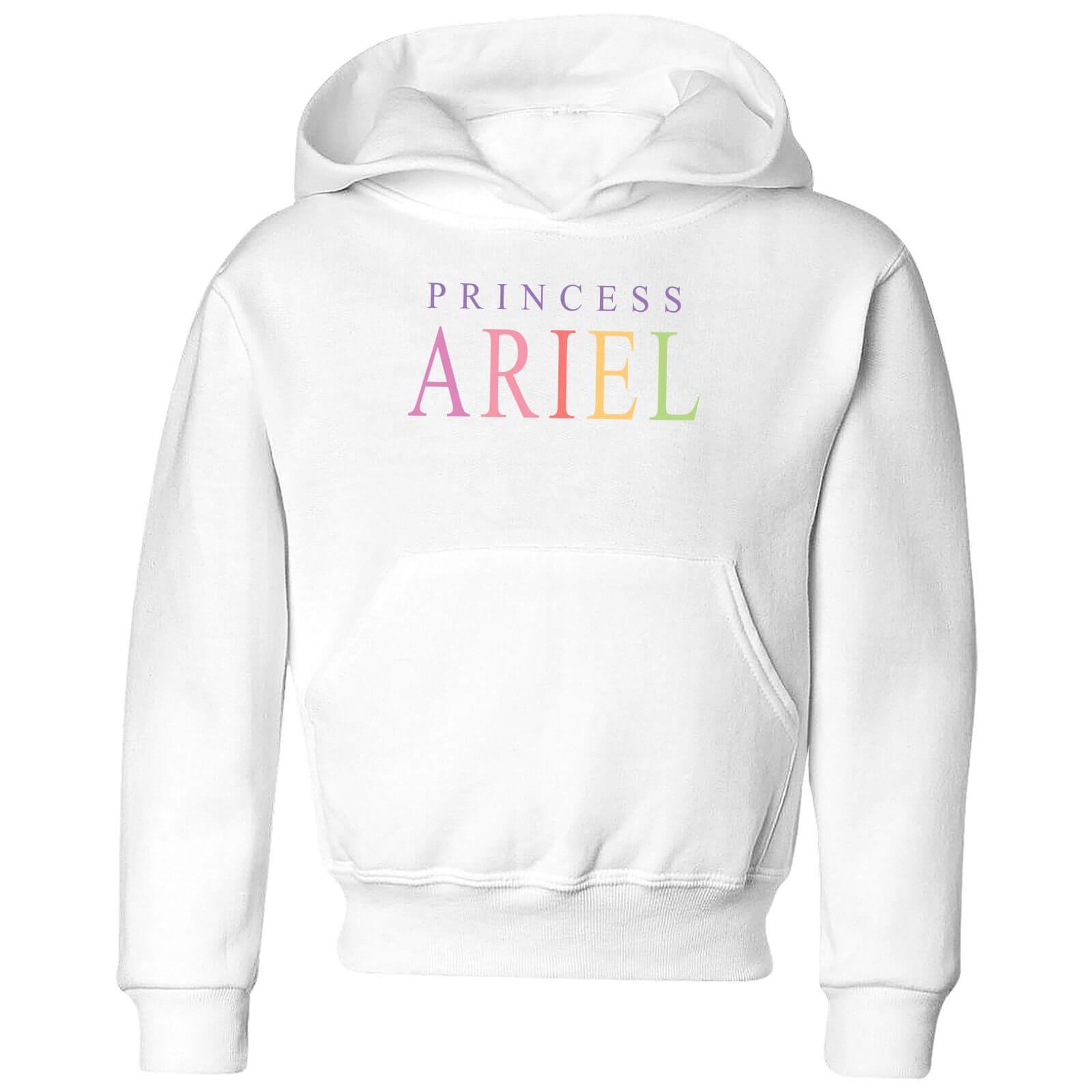 disney the little mermaid princess ariel kids' hoodie - white - 3-4 years - white